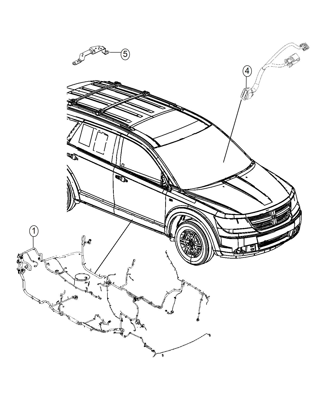 Dodge Journey Wiring Mexico Unified Body Jkv Rear