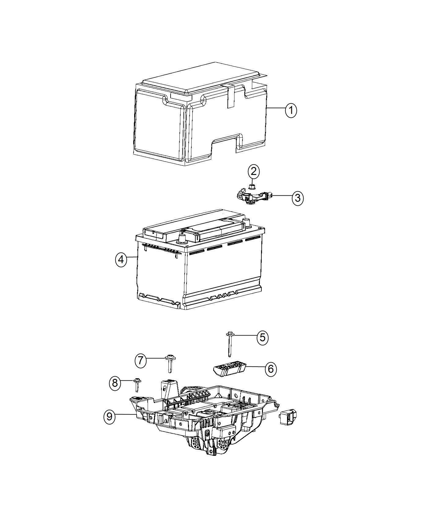 Jeep Cherokee Sensor Battery Stop Start Multiple Vsm