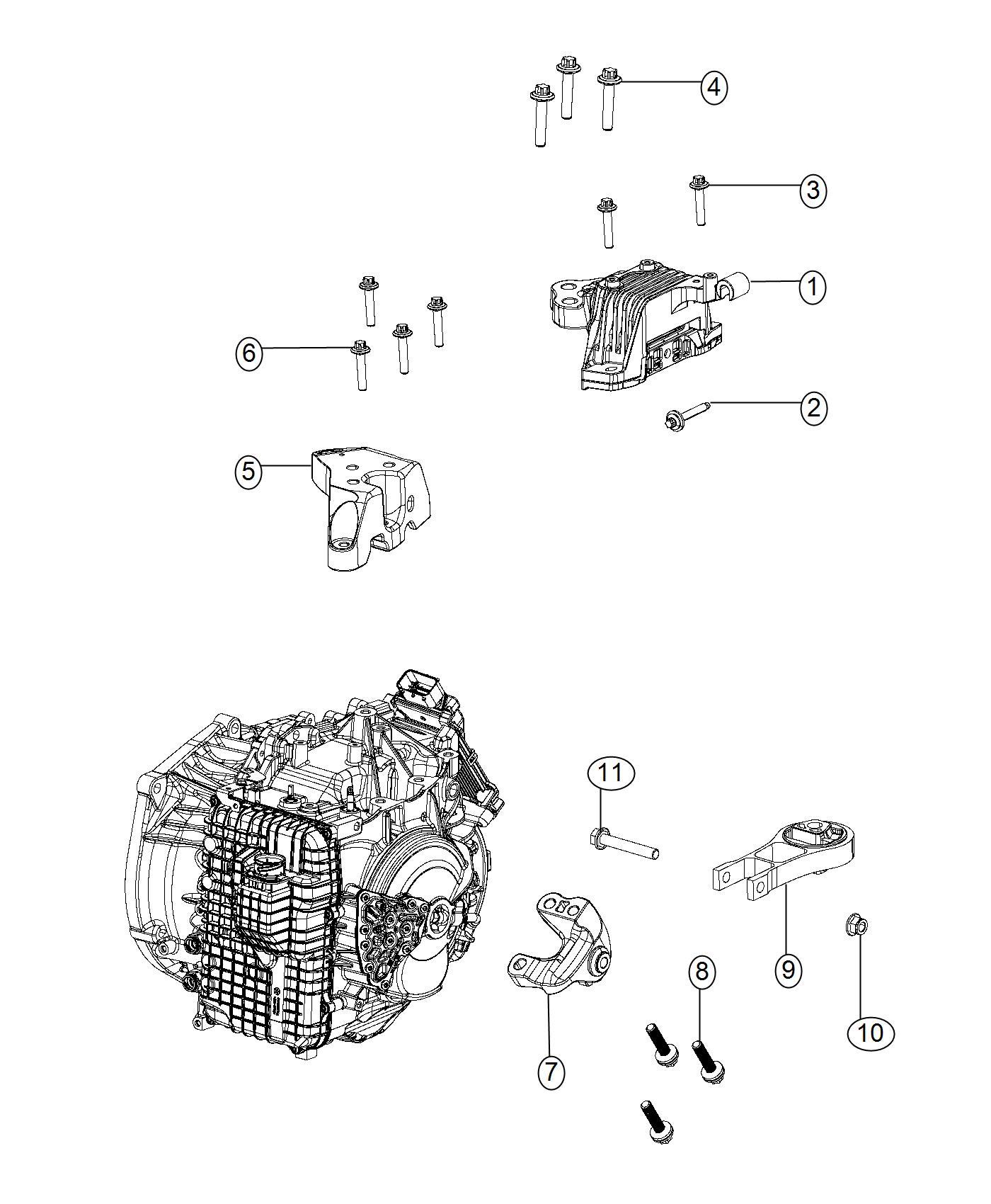 Chrysler 200 Bracket Engine Mount Transmission