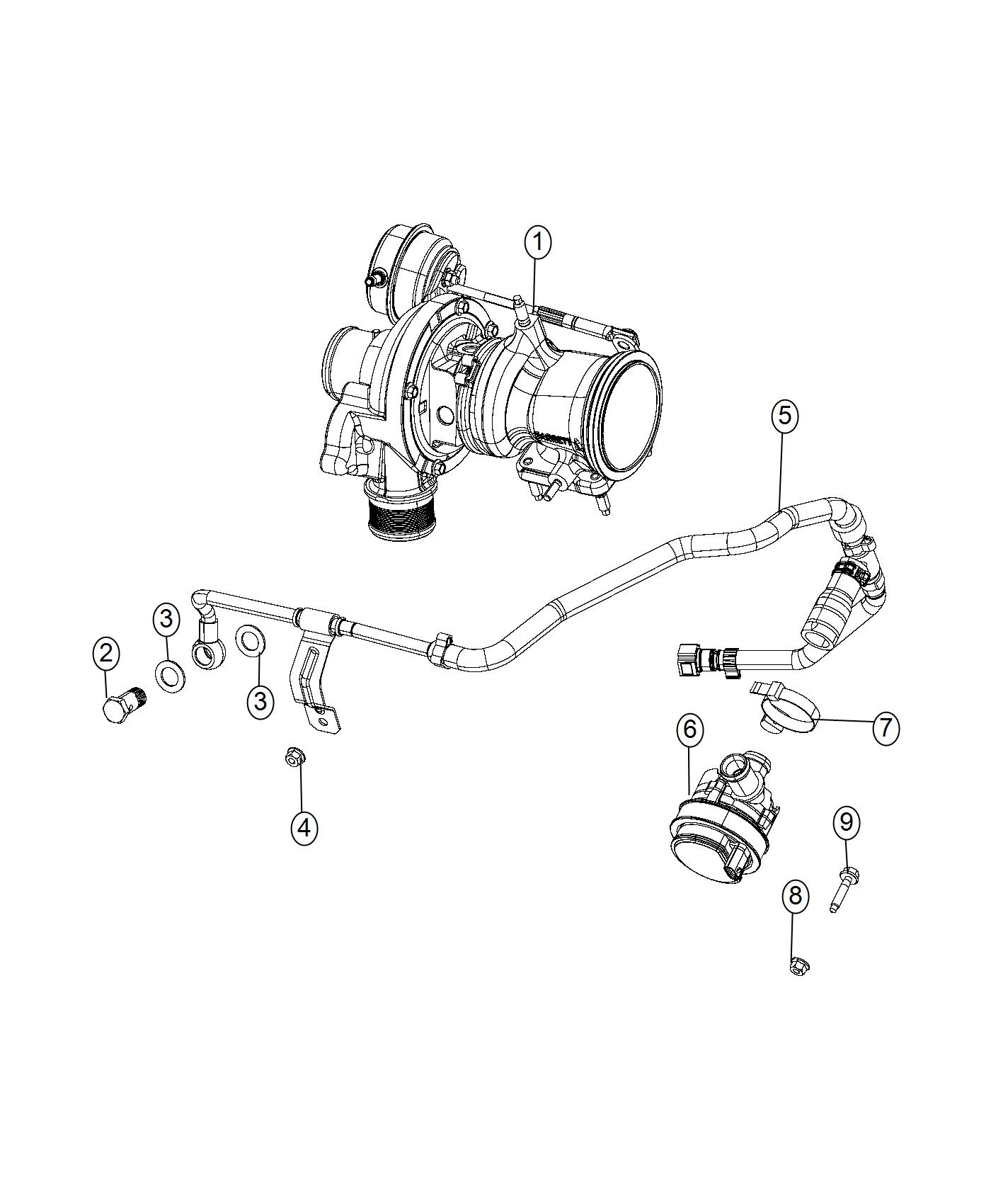Jeep Renegade Hose Coolant Turbo Cooling