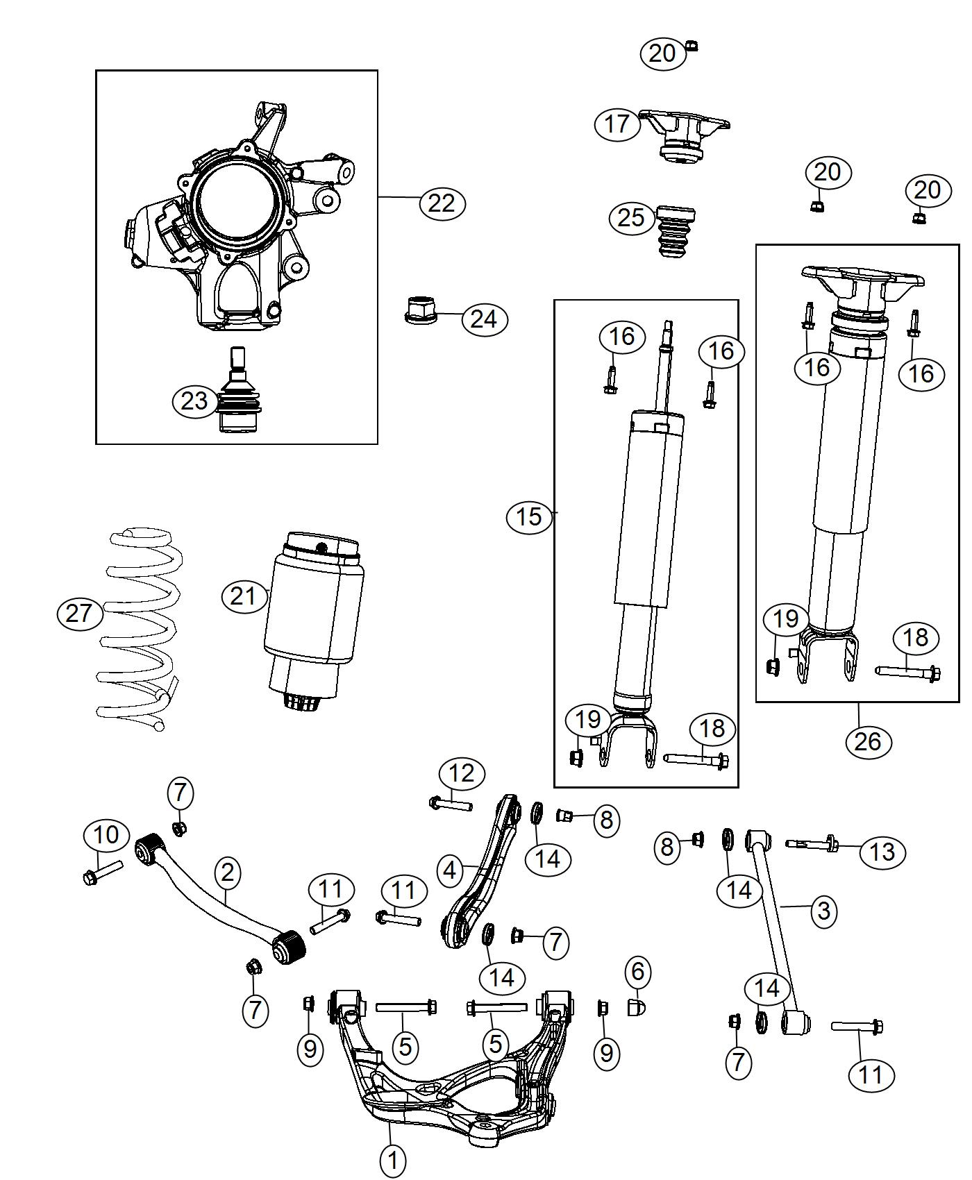 Jeep Grand Cherokee Spring Assembly Air Suspension