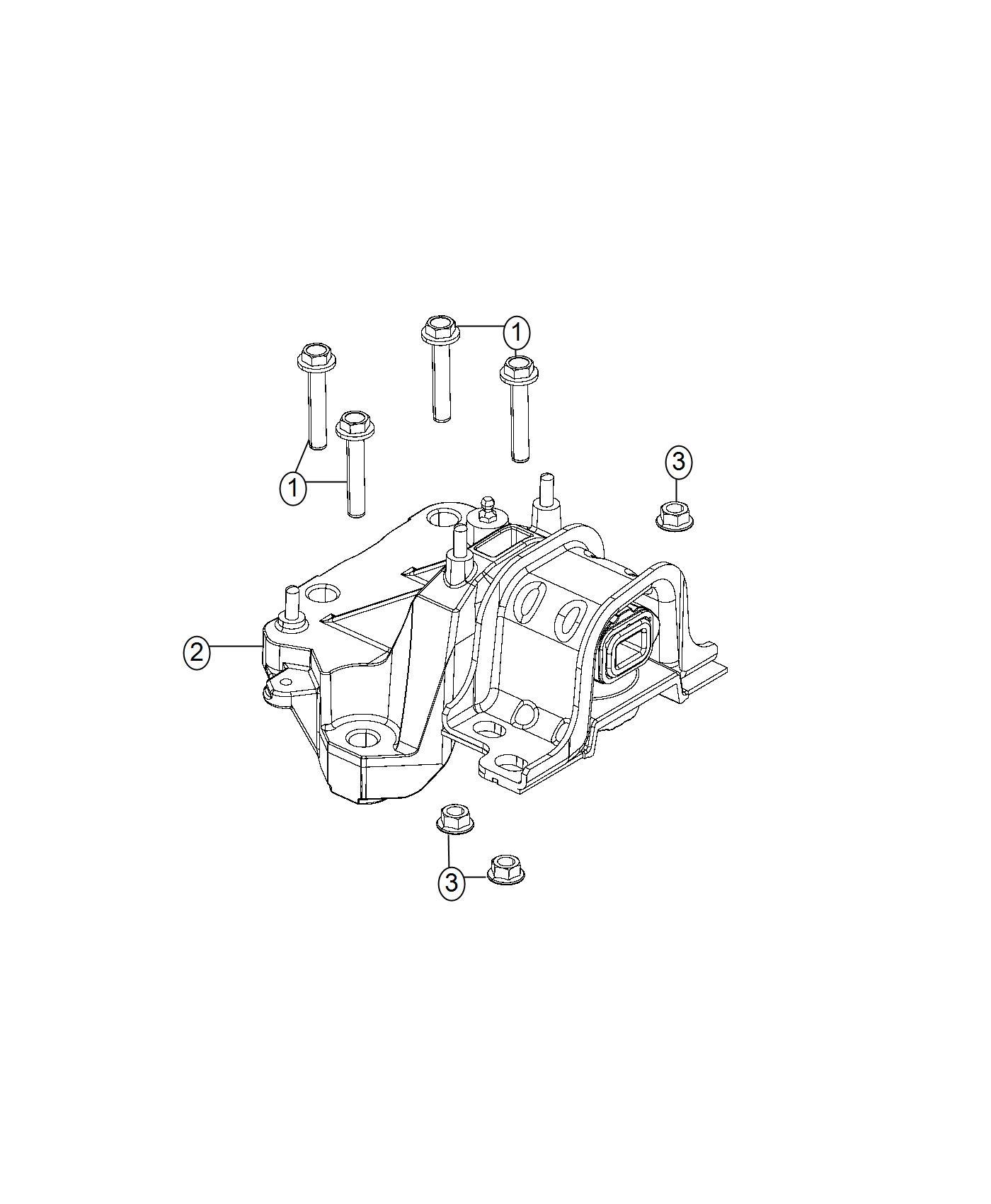Ram Promaster Isolator Engine Mount Left Left Side