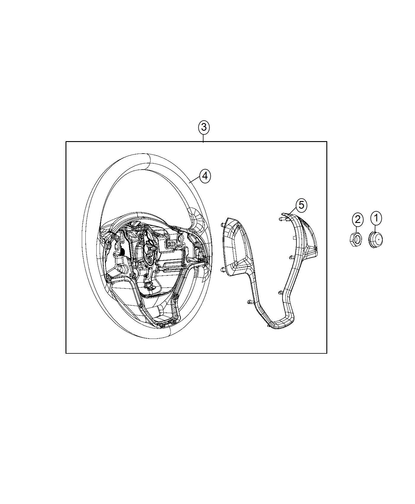Ram Promaster City Wagon Wheel Steering Trim No Description Available Color O0