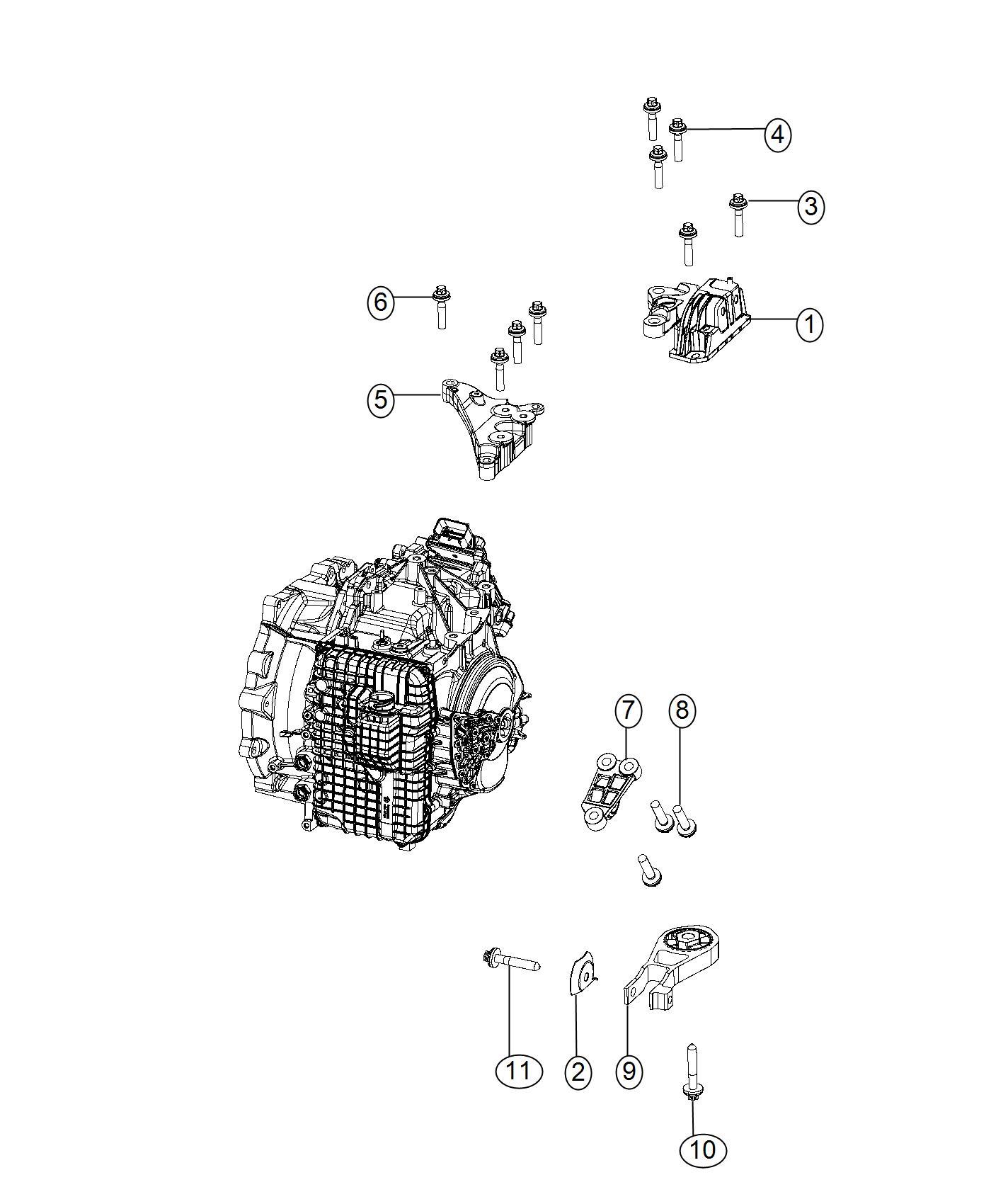 Ram Promaster City Wagon Slt Support Engine