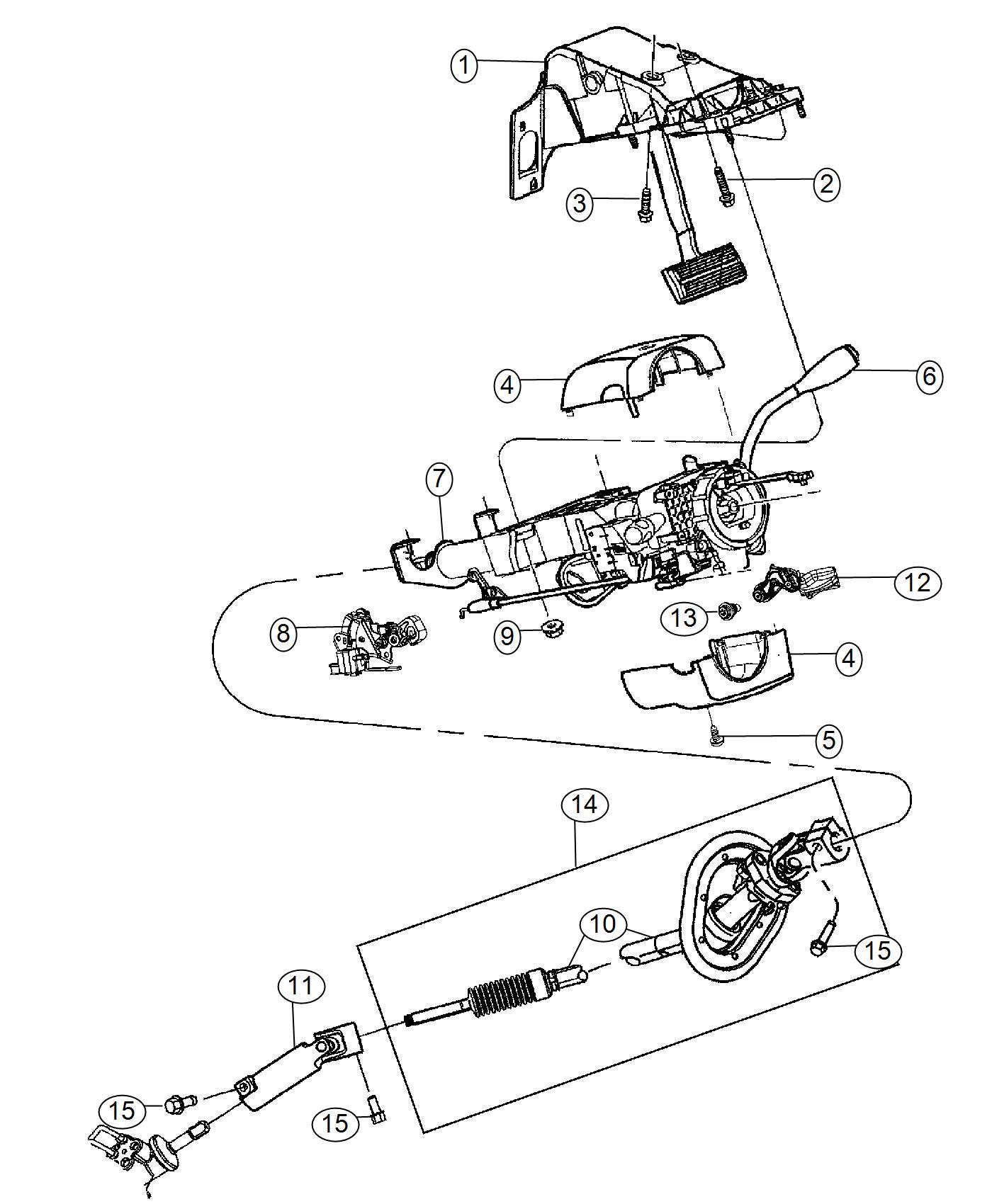 Ram Shaft Lower Steering Column Intermediate