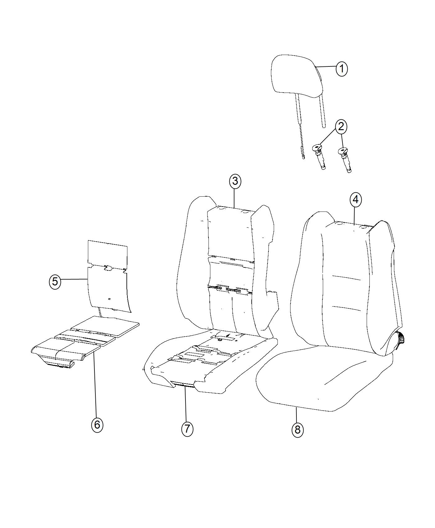 Jeep Grand Cherokee Cover Front Seat Cushion Left Trim