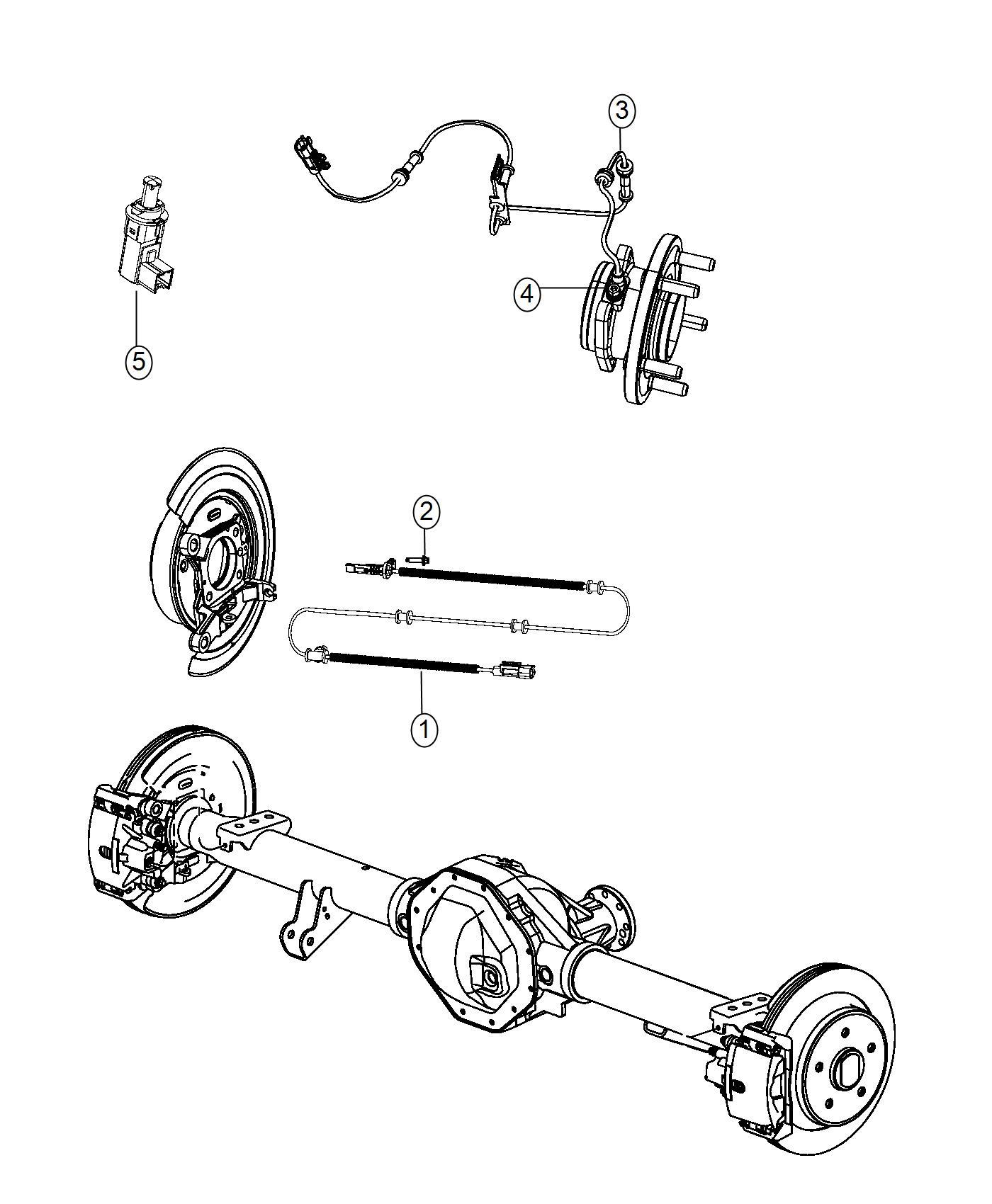 Ram Sensor Kit Anti Lock Brakes Left Left