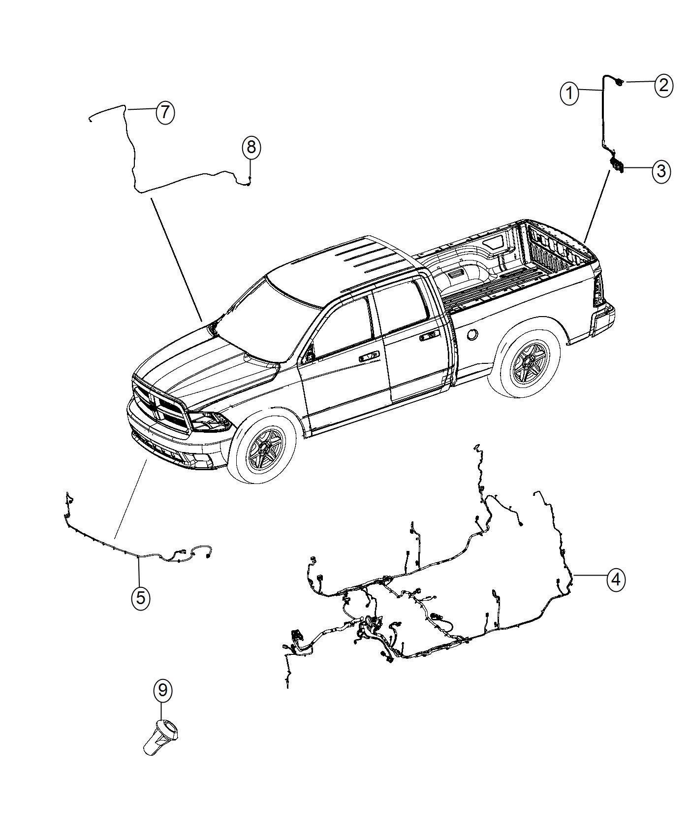 Ram Connector Kit Wiring Tailgate Tailgate Wiring