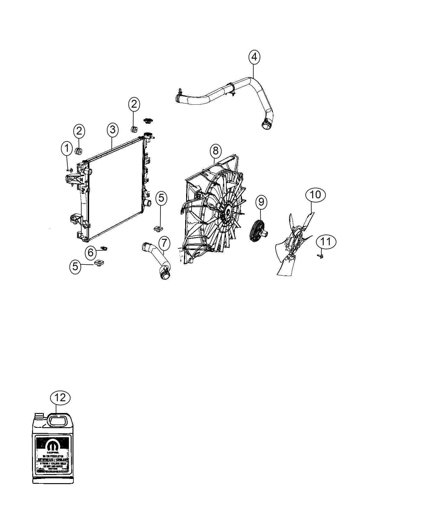 Ram Hose Radiator Outlet Includes Hoses