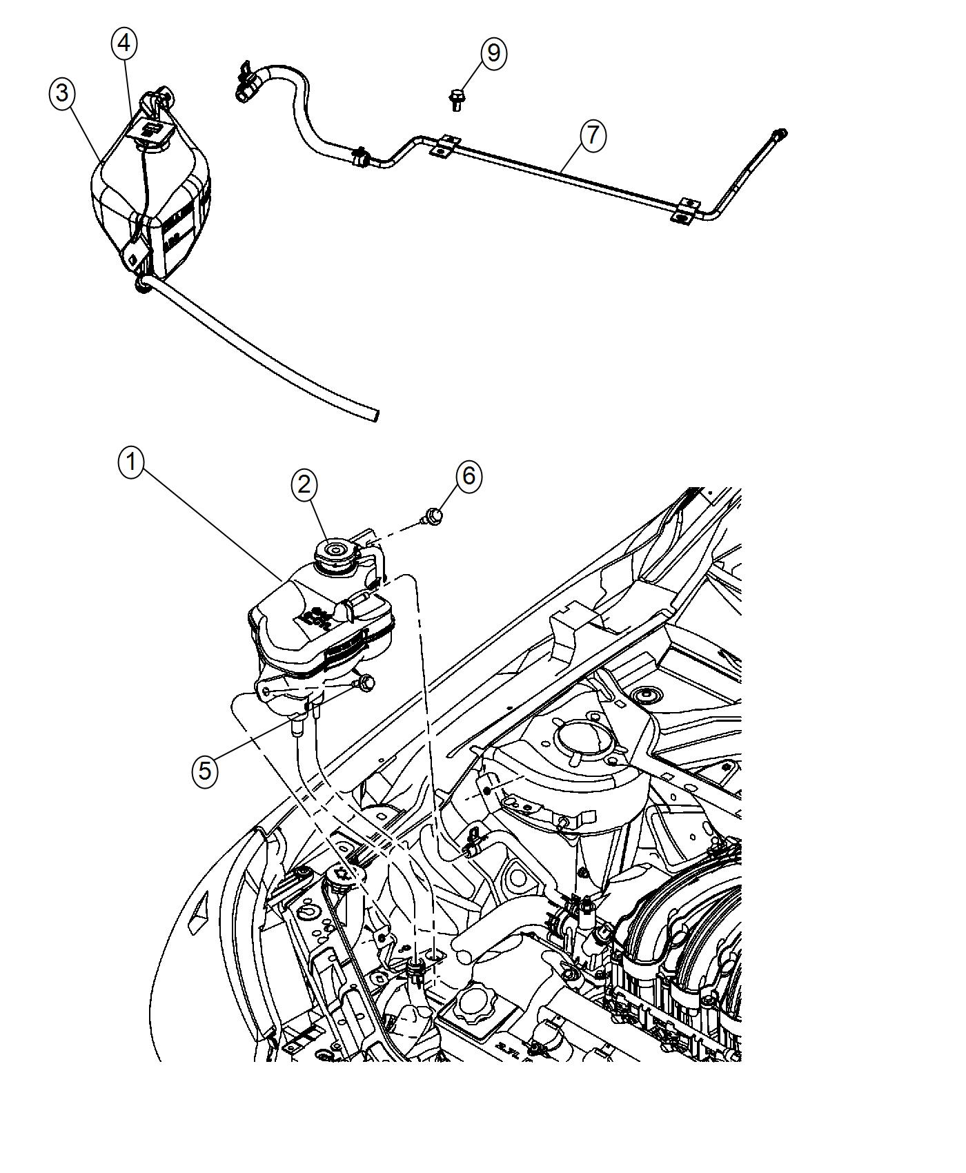 Chrysler Sebring Bottle Pressurized Coolant Engine