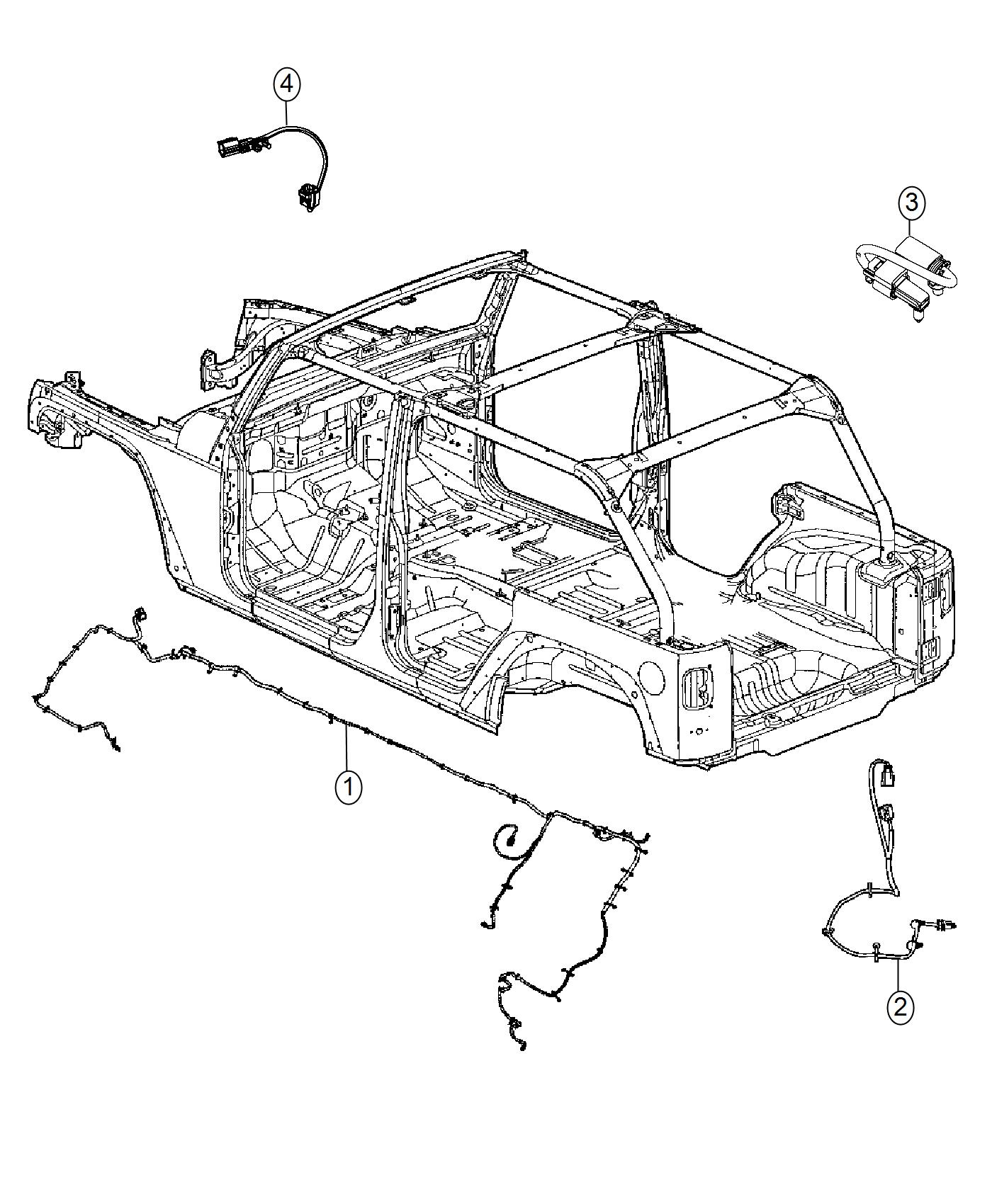 Jeep Wrangler Wiring Chassis Front Rear Steel