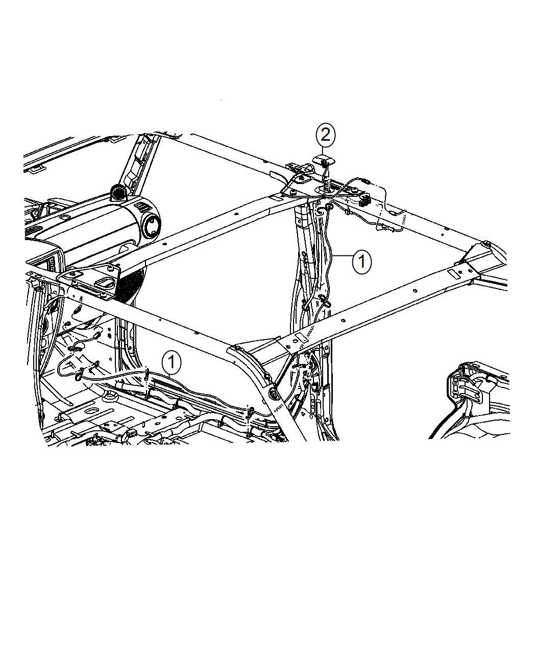 Jeep Wrangler Cable Satellite Radio Instrument Module Panel