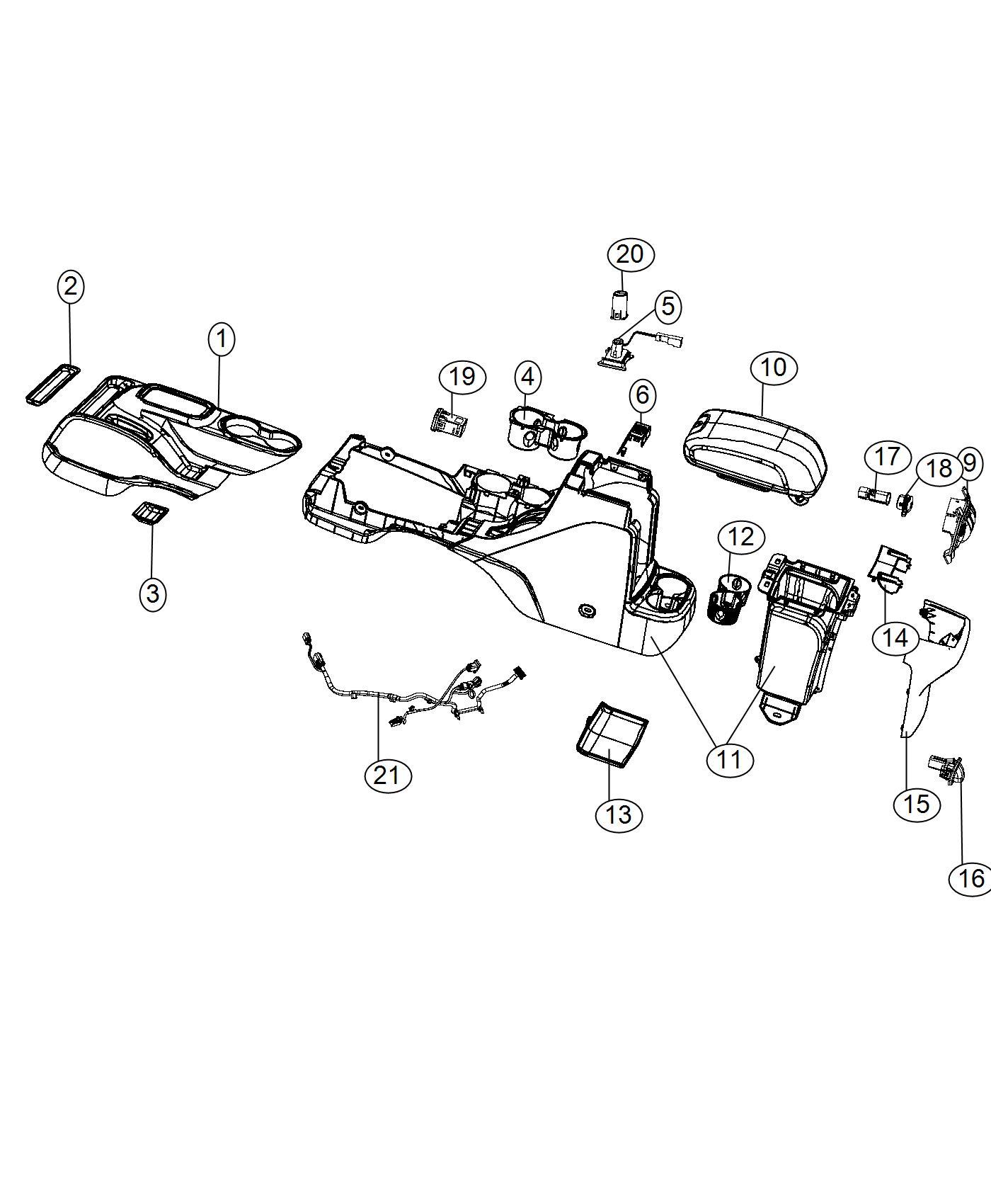 Jeep Wrangler Lamp Cup Holder Trim No Description