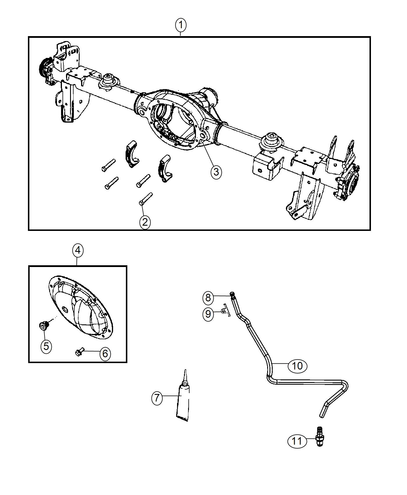 Jeep Wrangler Clip Vent Tube Upper Complete