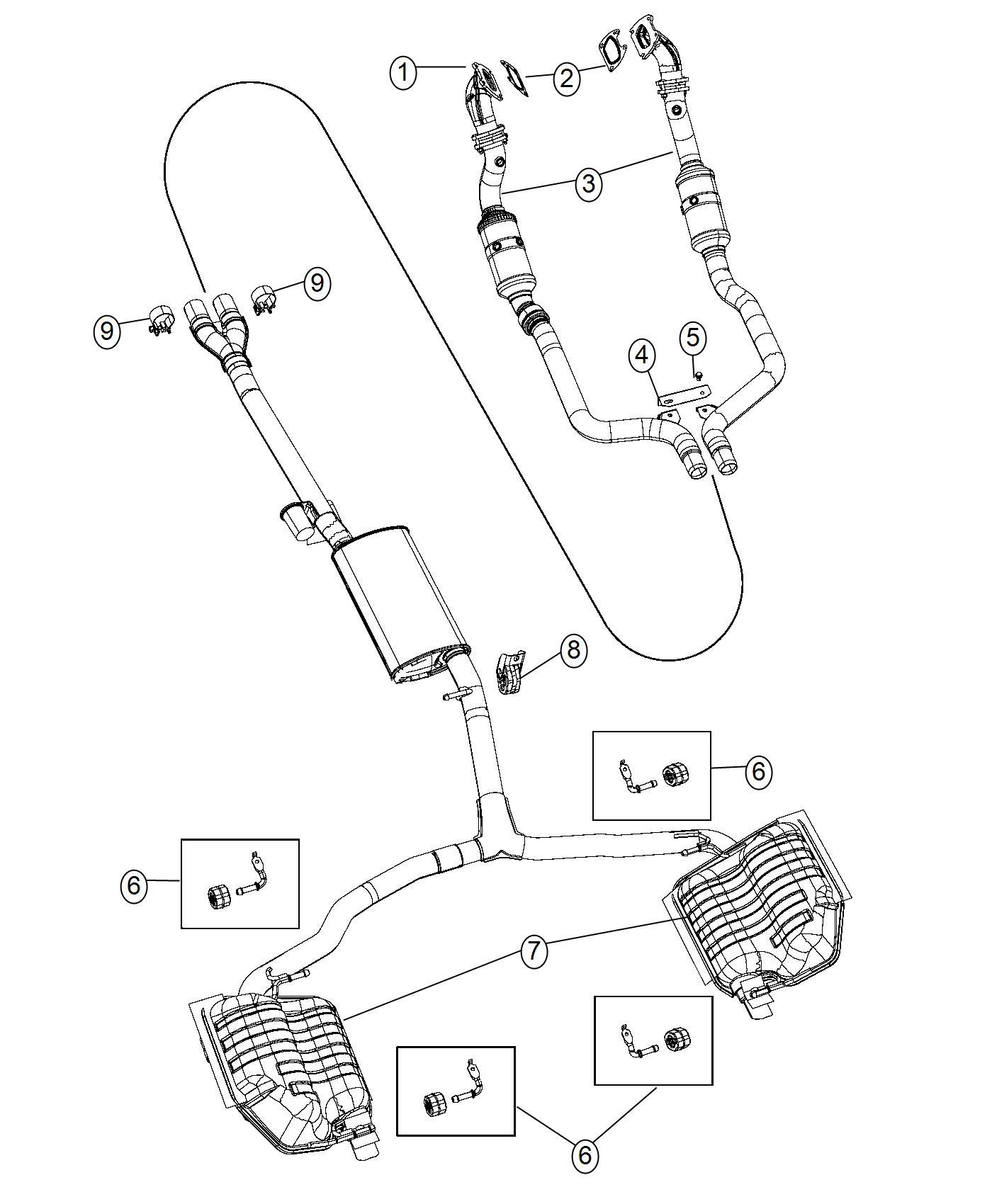 Chrysler 300 Bracket Exhaust Left Power Rating Outlet