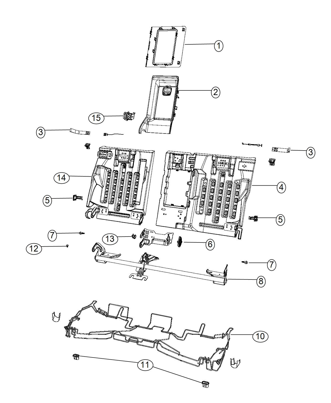 Chrysler 200 Bolt Shoulder Rr Seat Armrest W Storage Cupholder Trim Leather