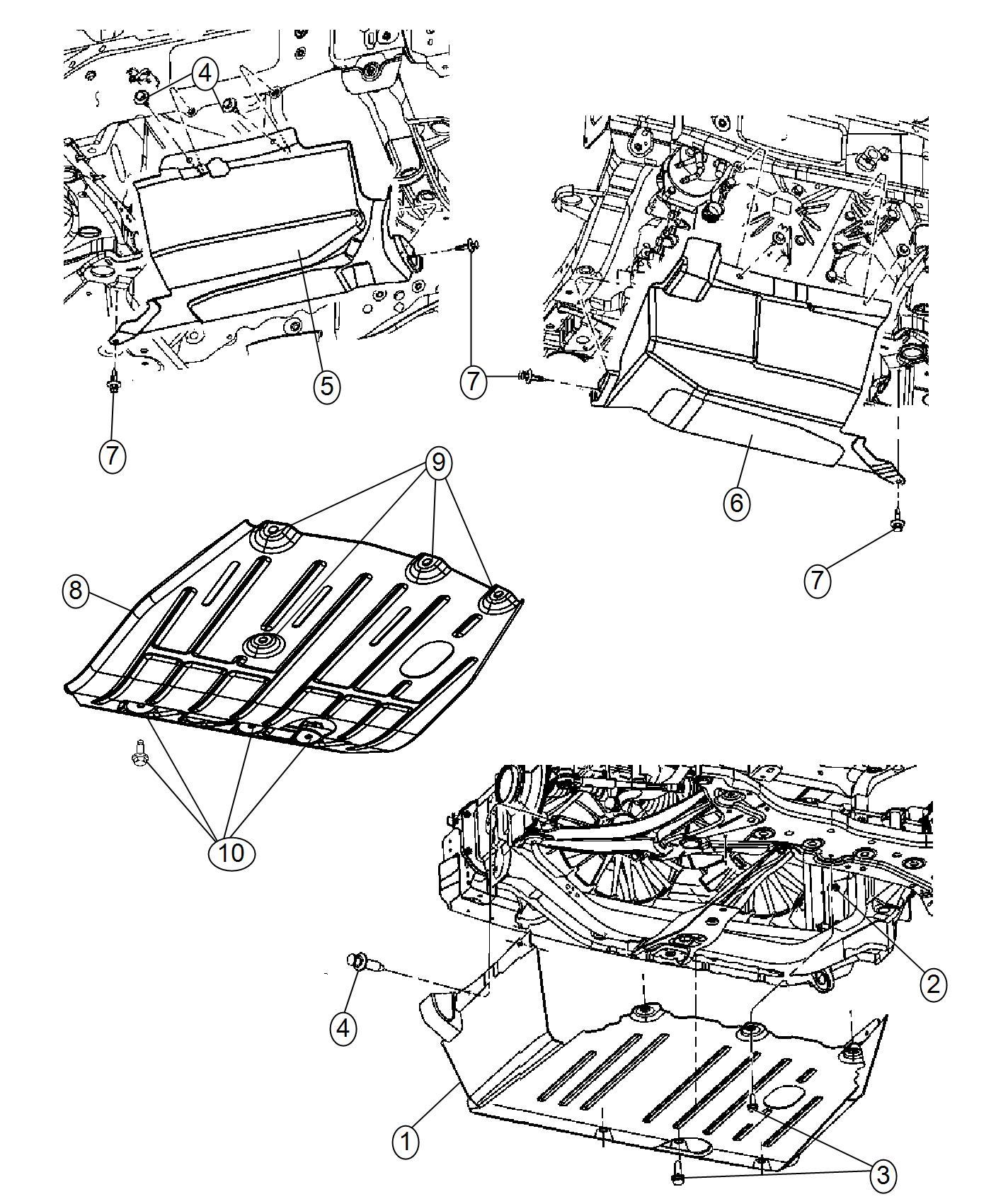 Jeep Patriot Bracket Skid Plate Awl Body