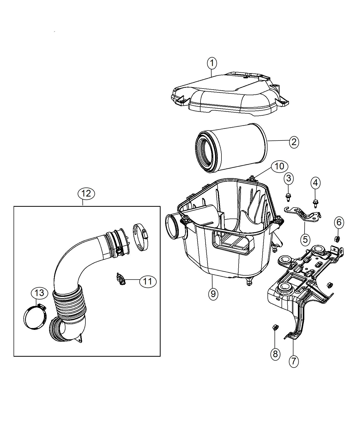 Jeep Compass Bracket Air Cleaner
