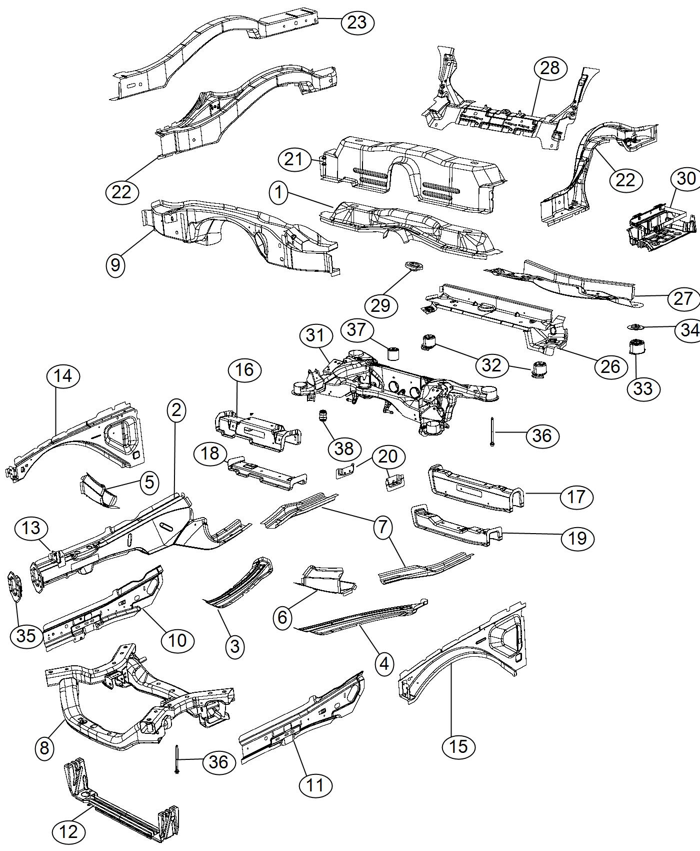 Dodge Charger Subframe Rear Axle Ezh Complete
