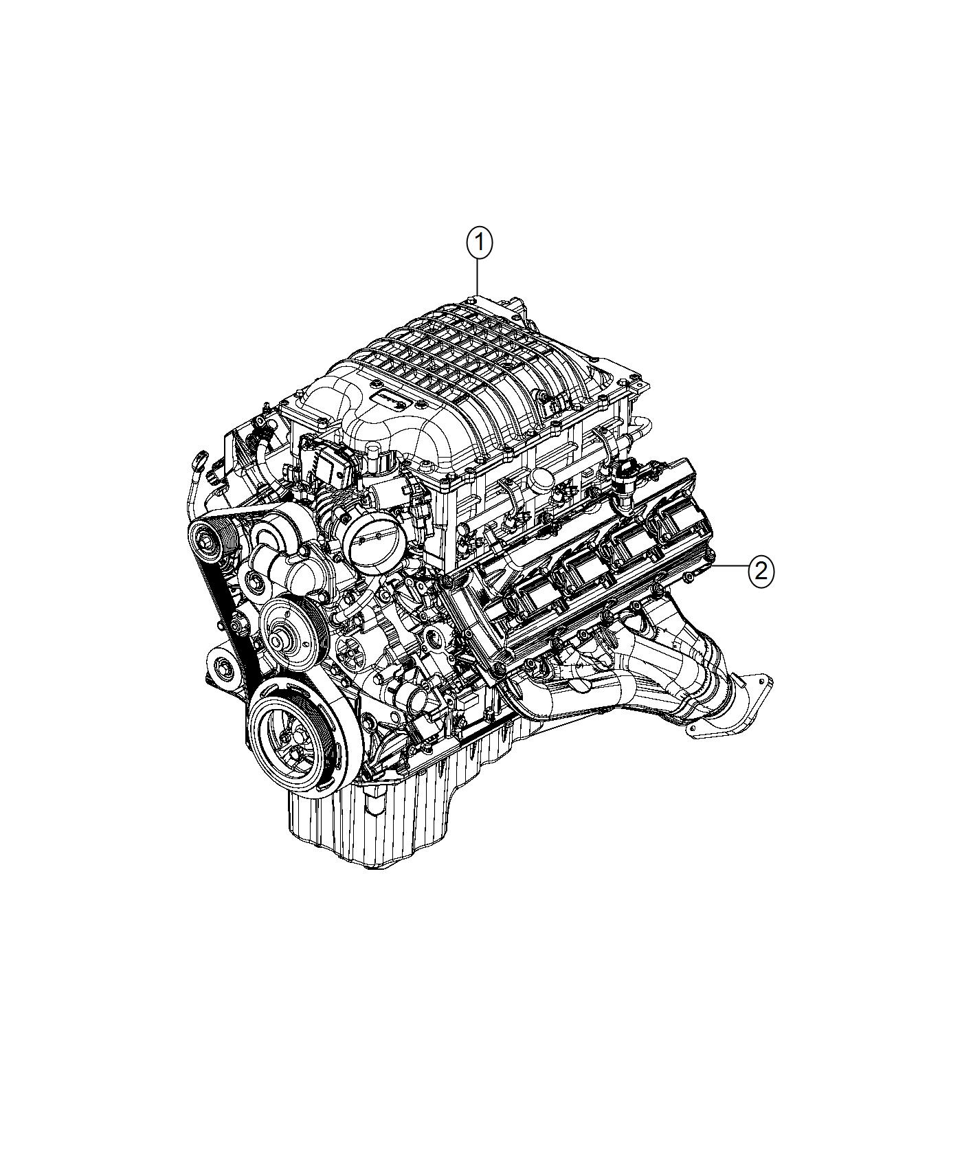 Dodge Charger Engine Long Block