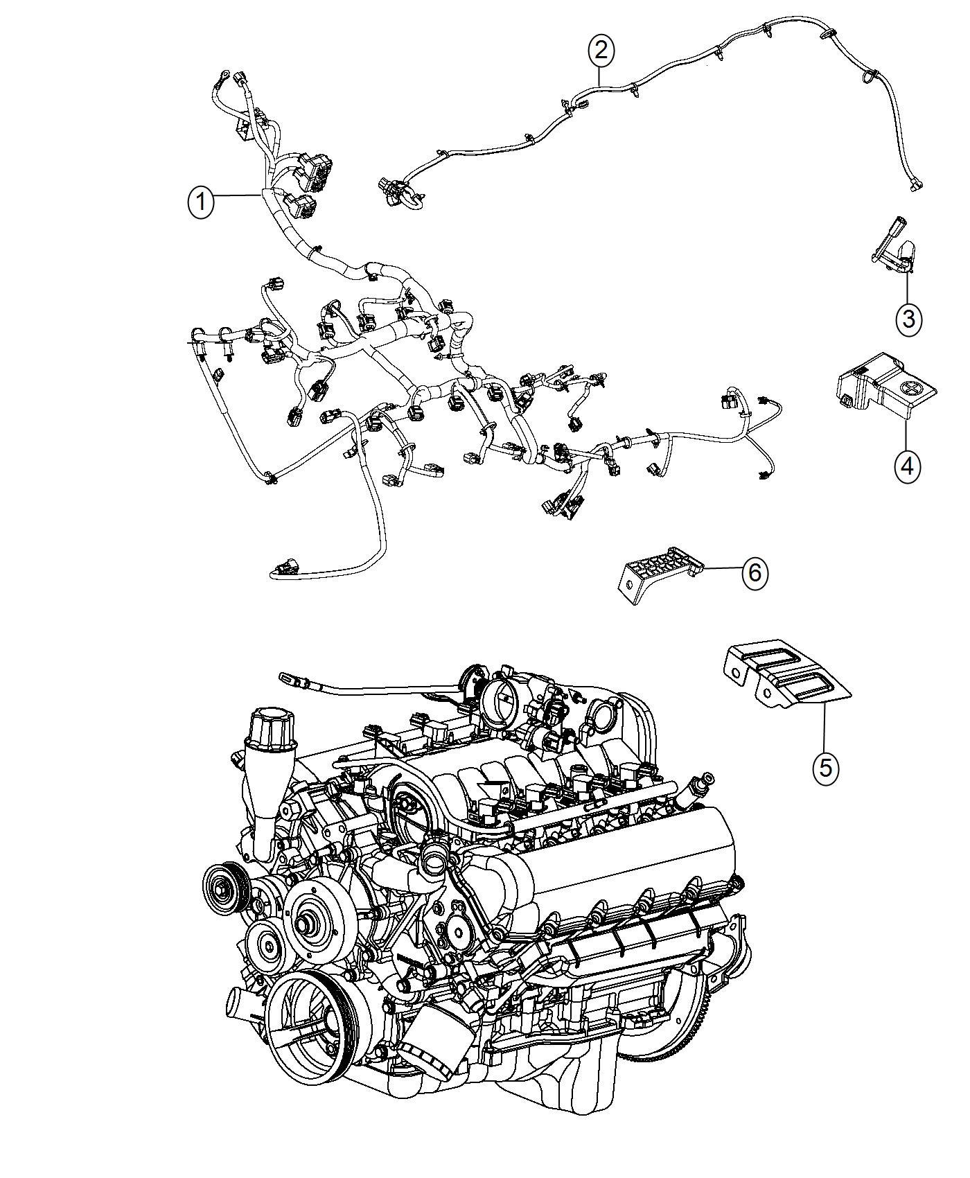 Ram Wiring Jumper Engine Mds Jumper Mopar