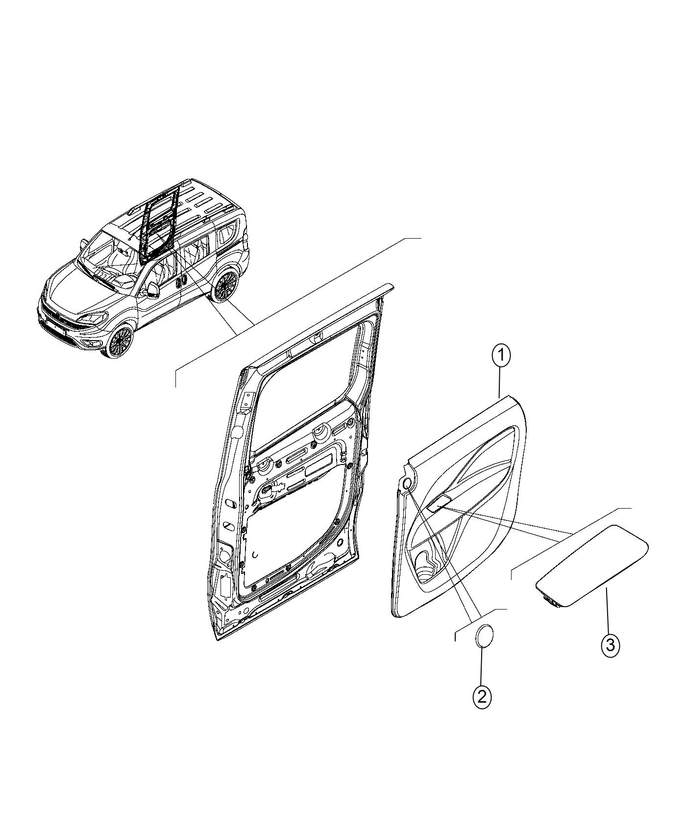 Ram Promaster City Wagon Slt Panel Sliding Door Trim