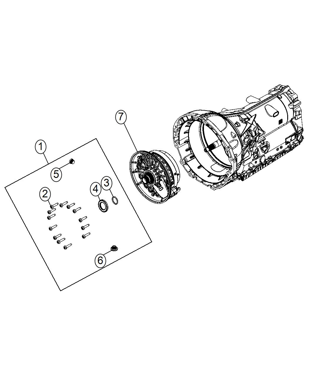 Jeep Grand Cherokee Seal Kit Transmission Oil Pump Rear