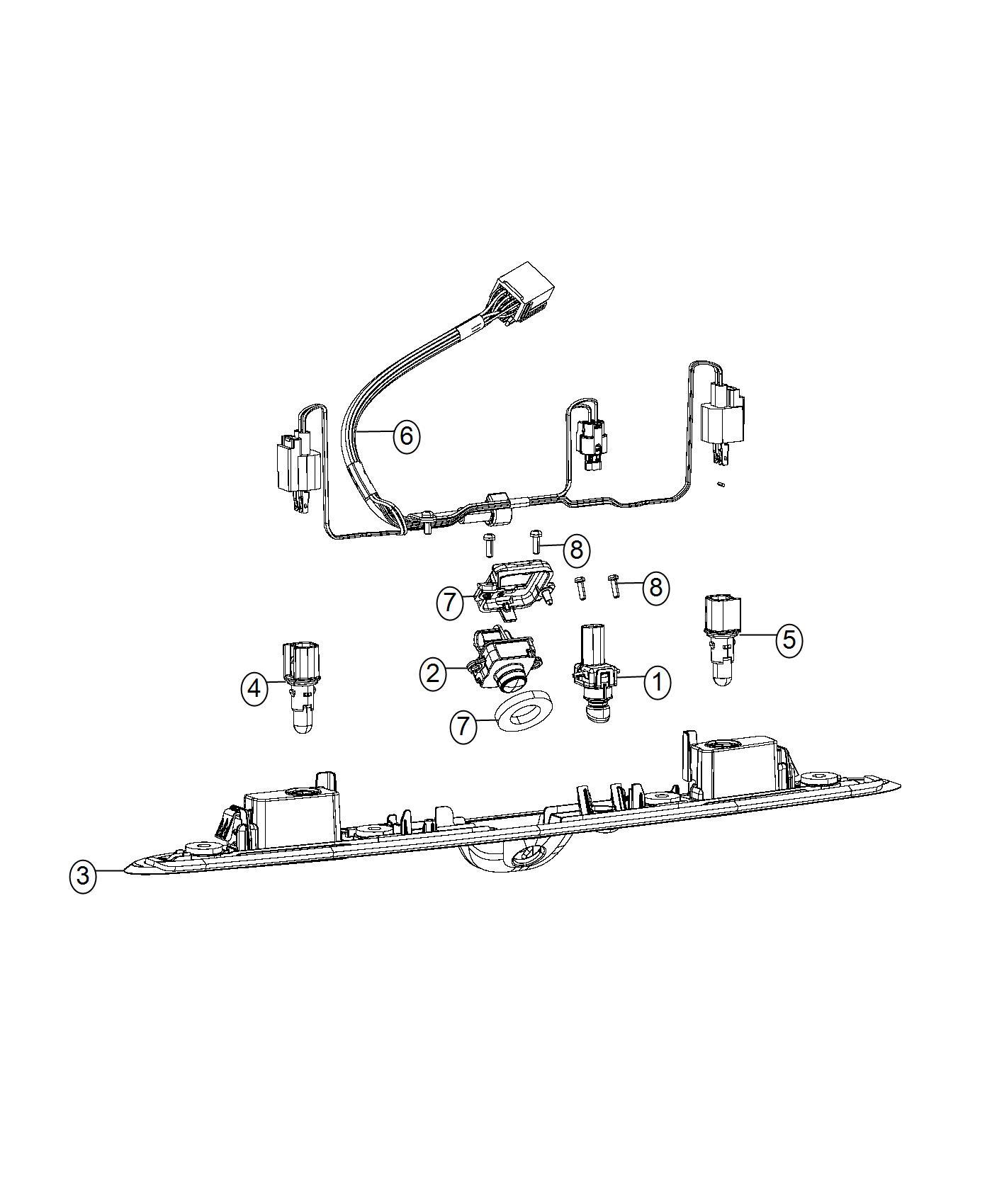 Chrysler 200 Wiring License Lamp Rear