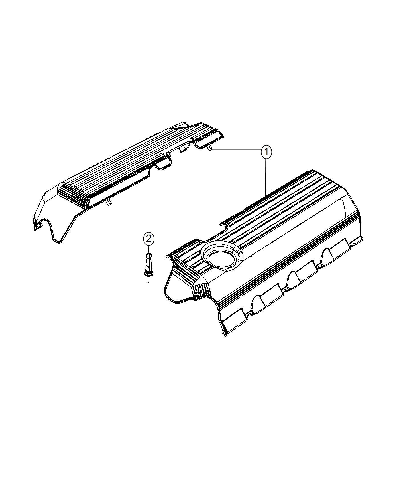 Chrysler 300 Cover Wiring Protector Left Side Turbo