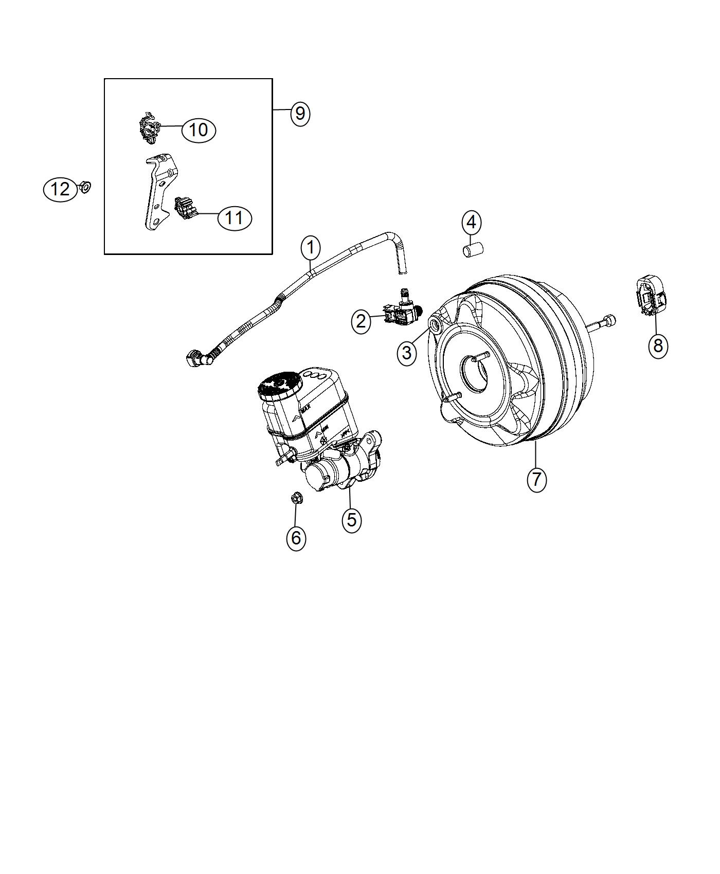 Fiat 500x Hose Brake Booster Vacuum Canada Mexico