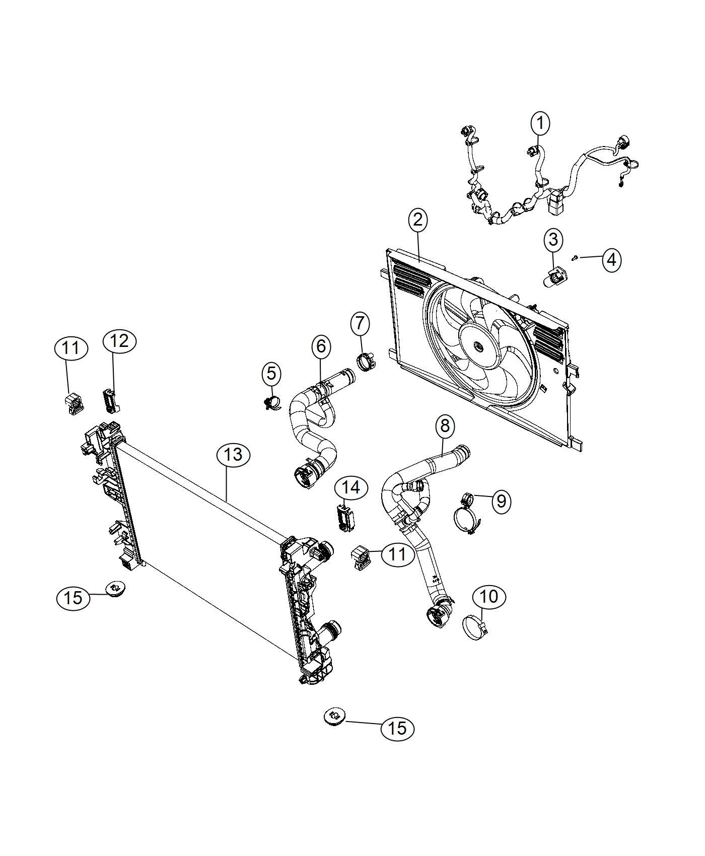 Fiat 500x Hose Radiator Inlet Export Maintenance