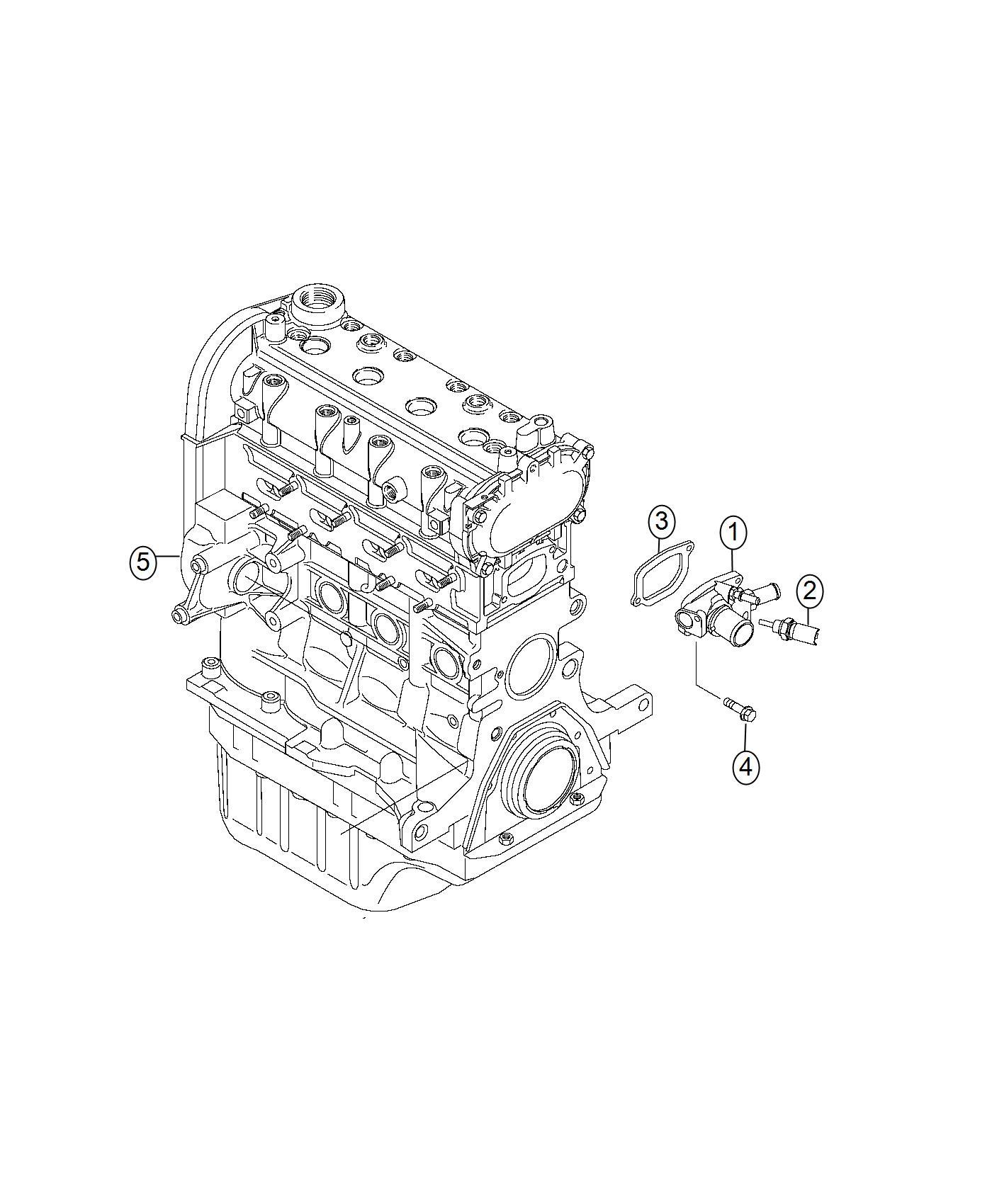 Fiat 500x Gasket Thermostat Engine Block Heater