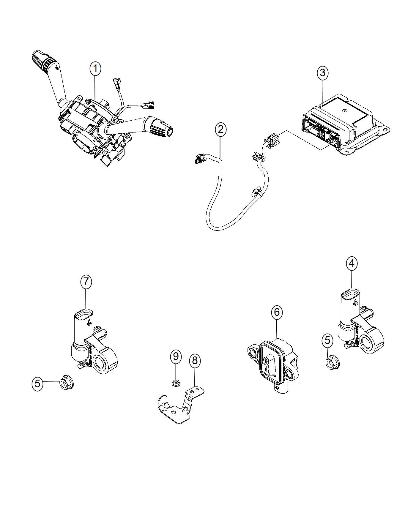 Jeep Renegade Clockspring Steering Column Control Module Export Trim No Description
