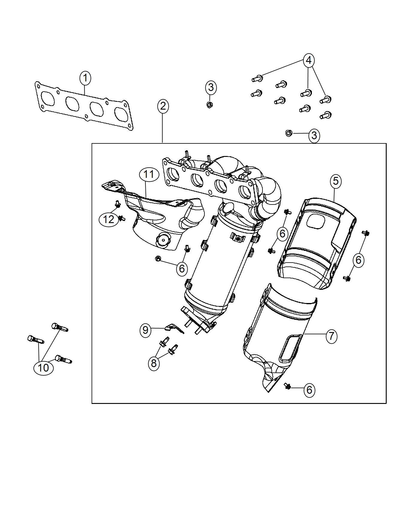 Jeep Renegade Gasket Exhaust Manifold Brazil