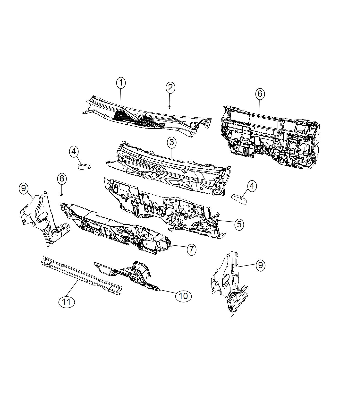 Jeep Compass Silencer Dash Panel Ecd Or Ece Cowl Related