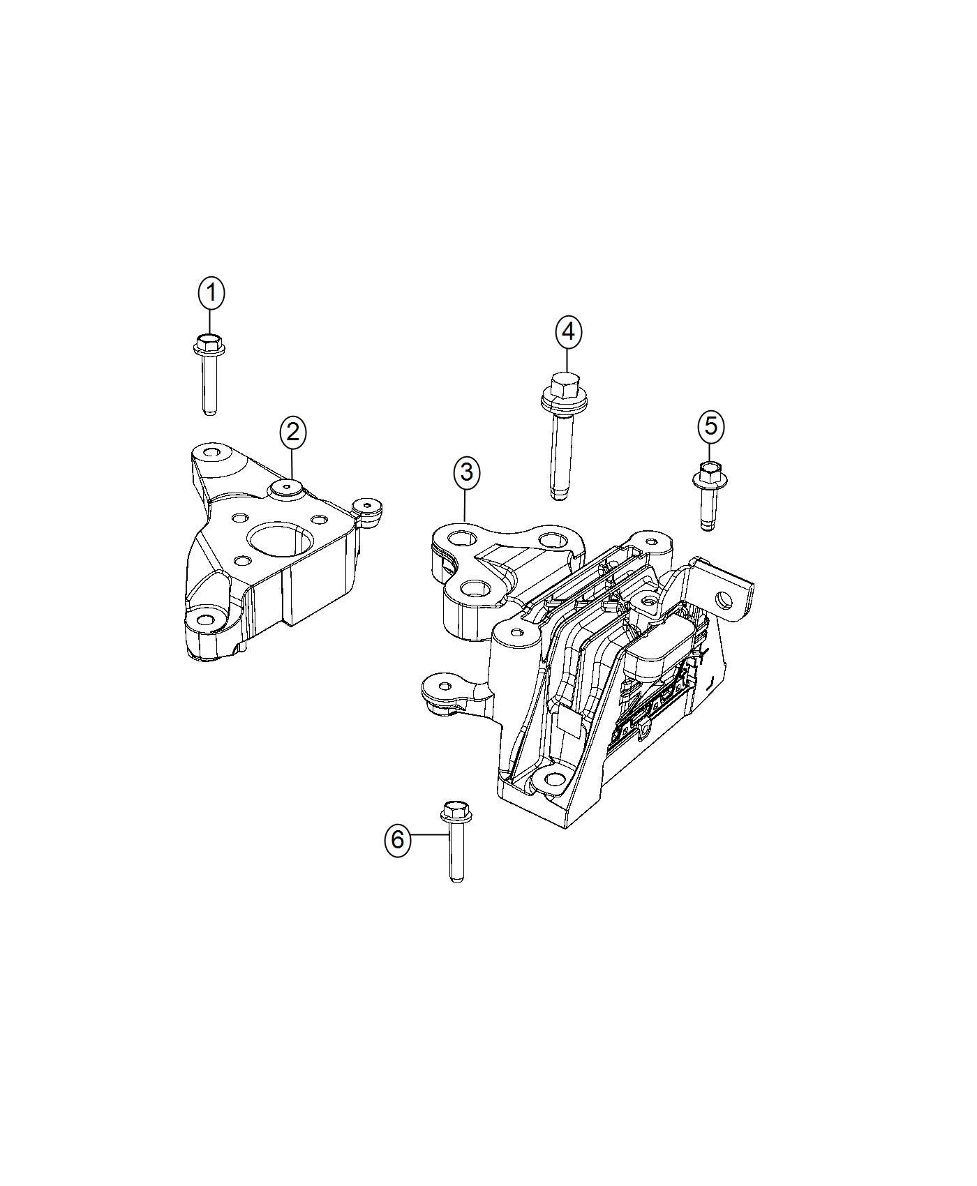Chrysler Pacifica Isolator Transmission Mount Phev