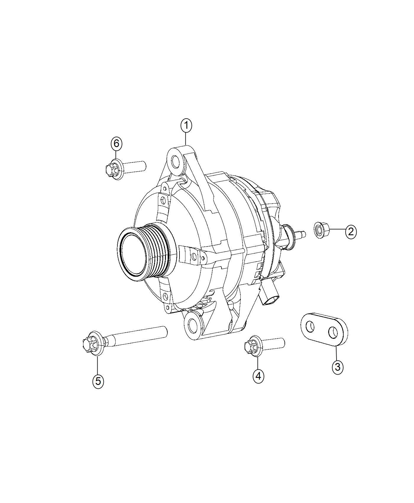 Jeep Renegade Generator Engine Alternator Amp