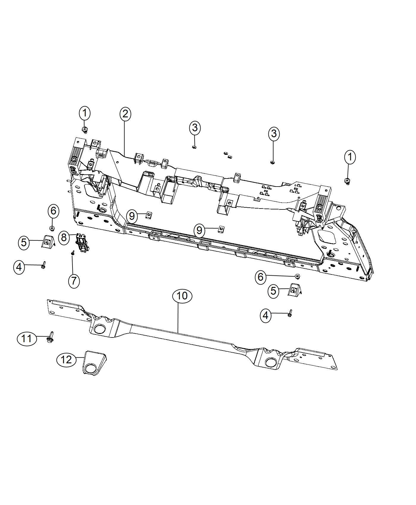 Jeep Renegade Bracket Radiator Support