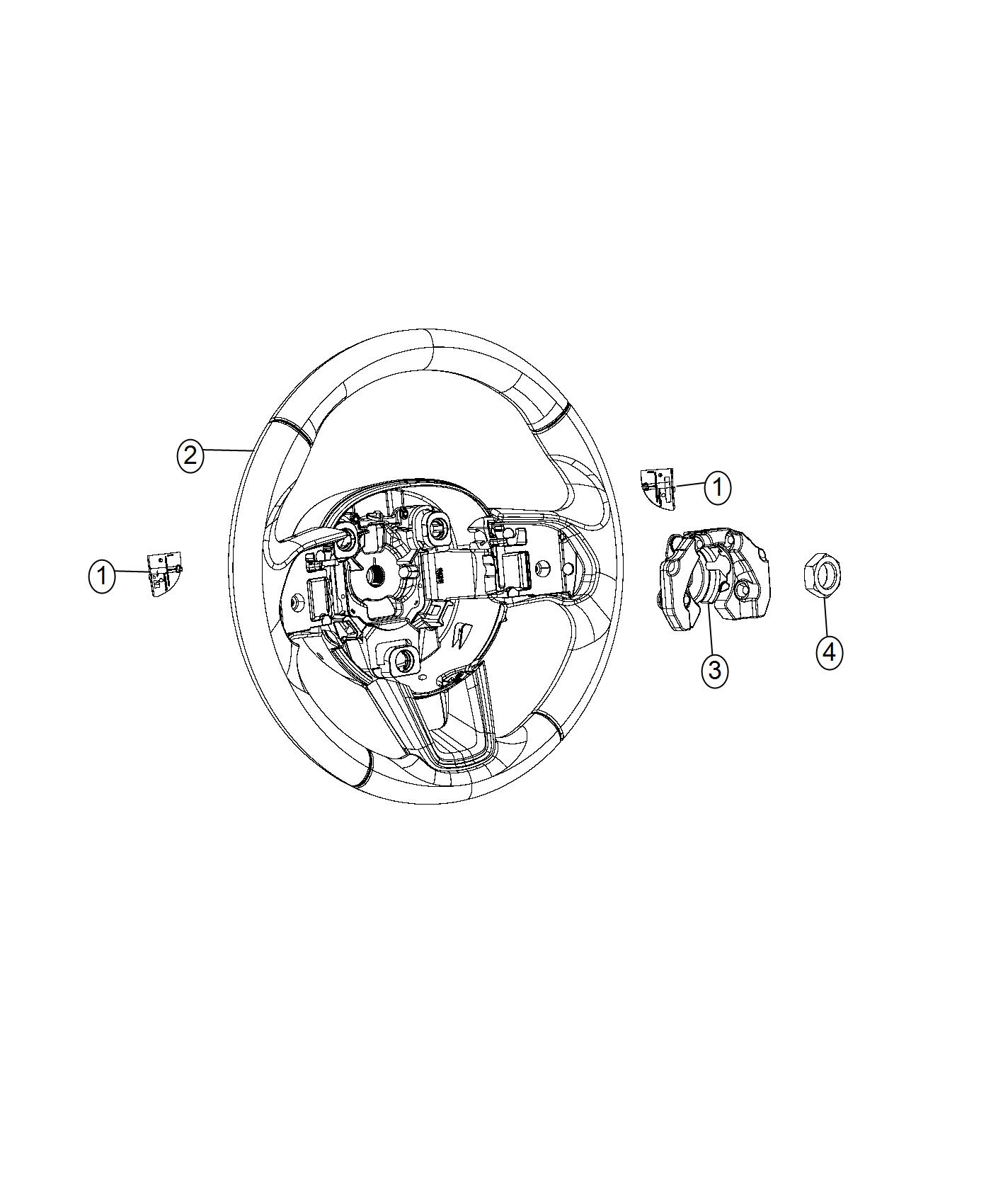 Jeep Compass Wheel Steering Export Trim No