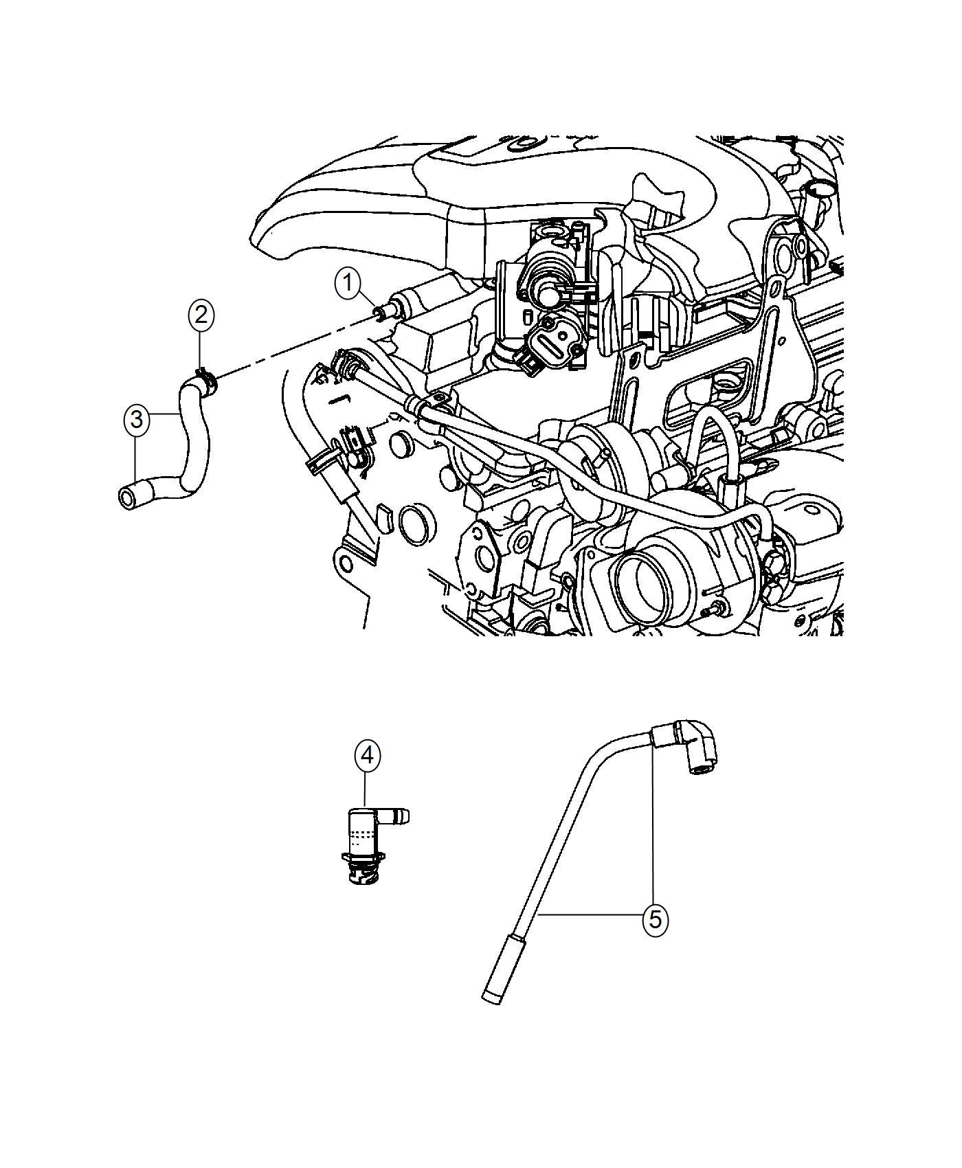 Chrysler Pt Cruiser Hose Crankcase Vent Includes