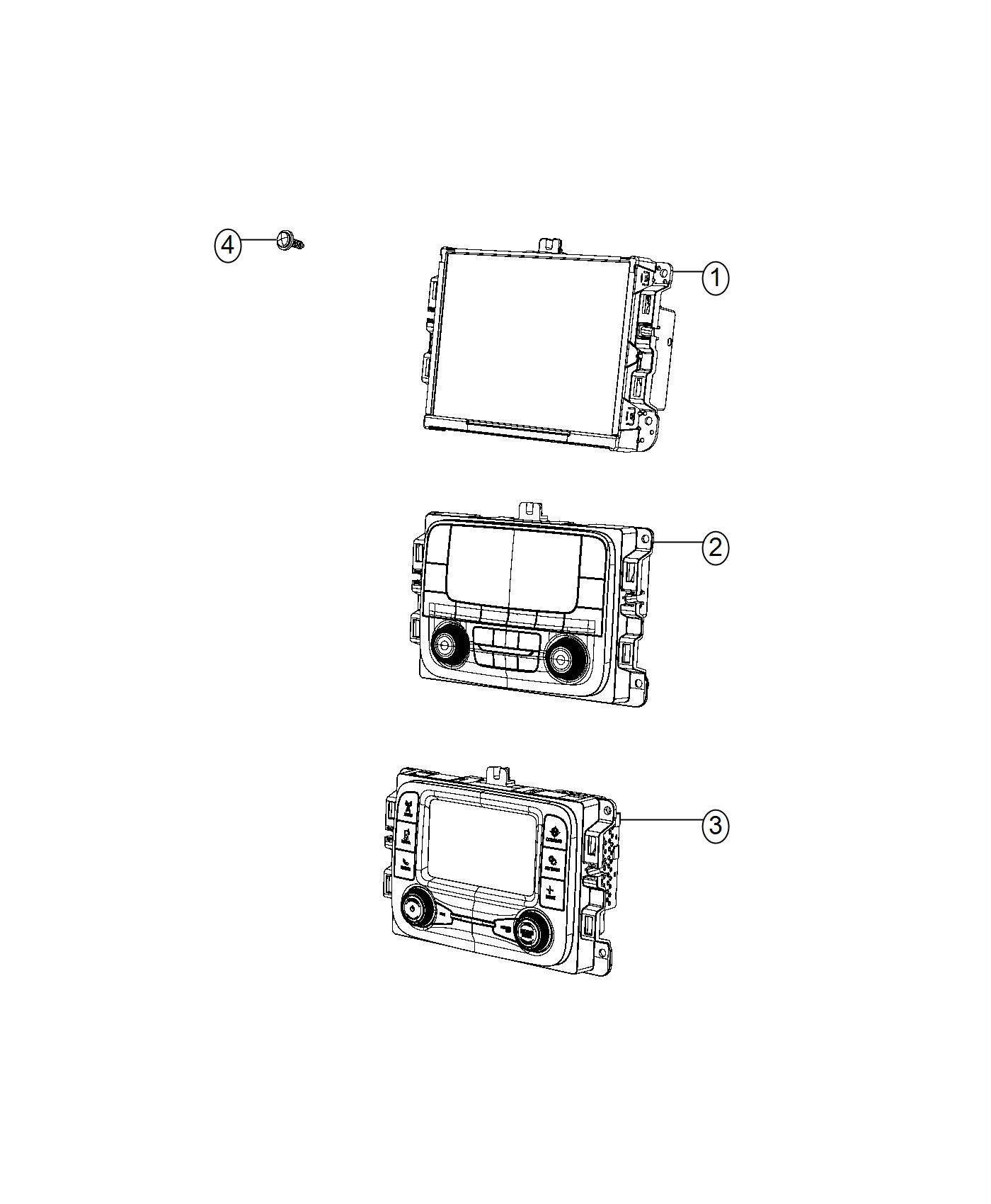 Jeep Renegade Radio Multi Media Instrument Panel Parts