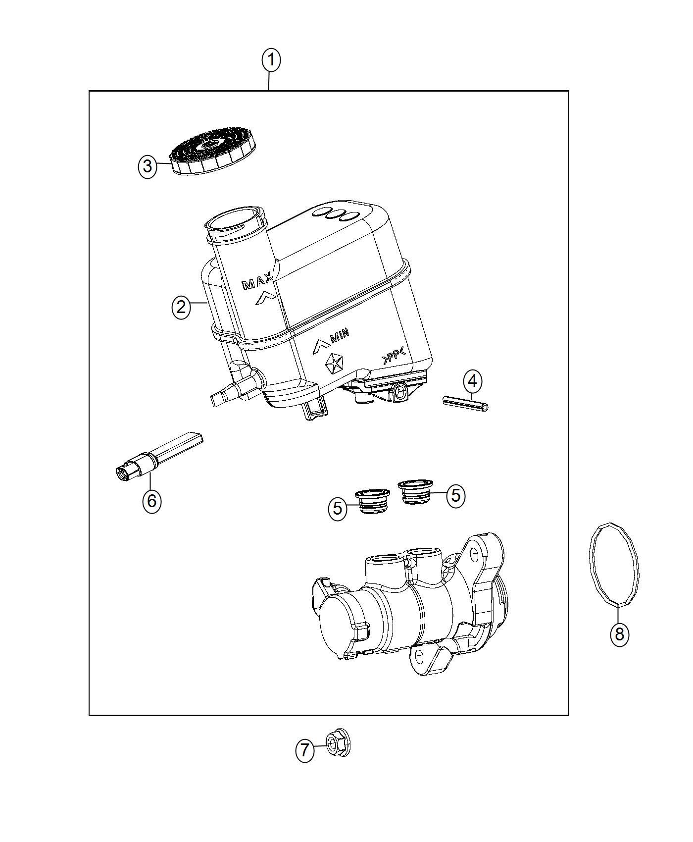 Jeep Renegade Master Cylinder Brake Brakes Booster