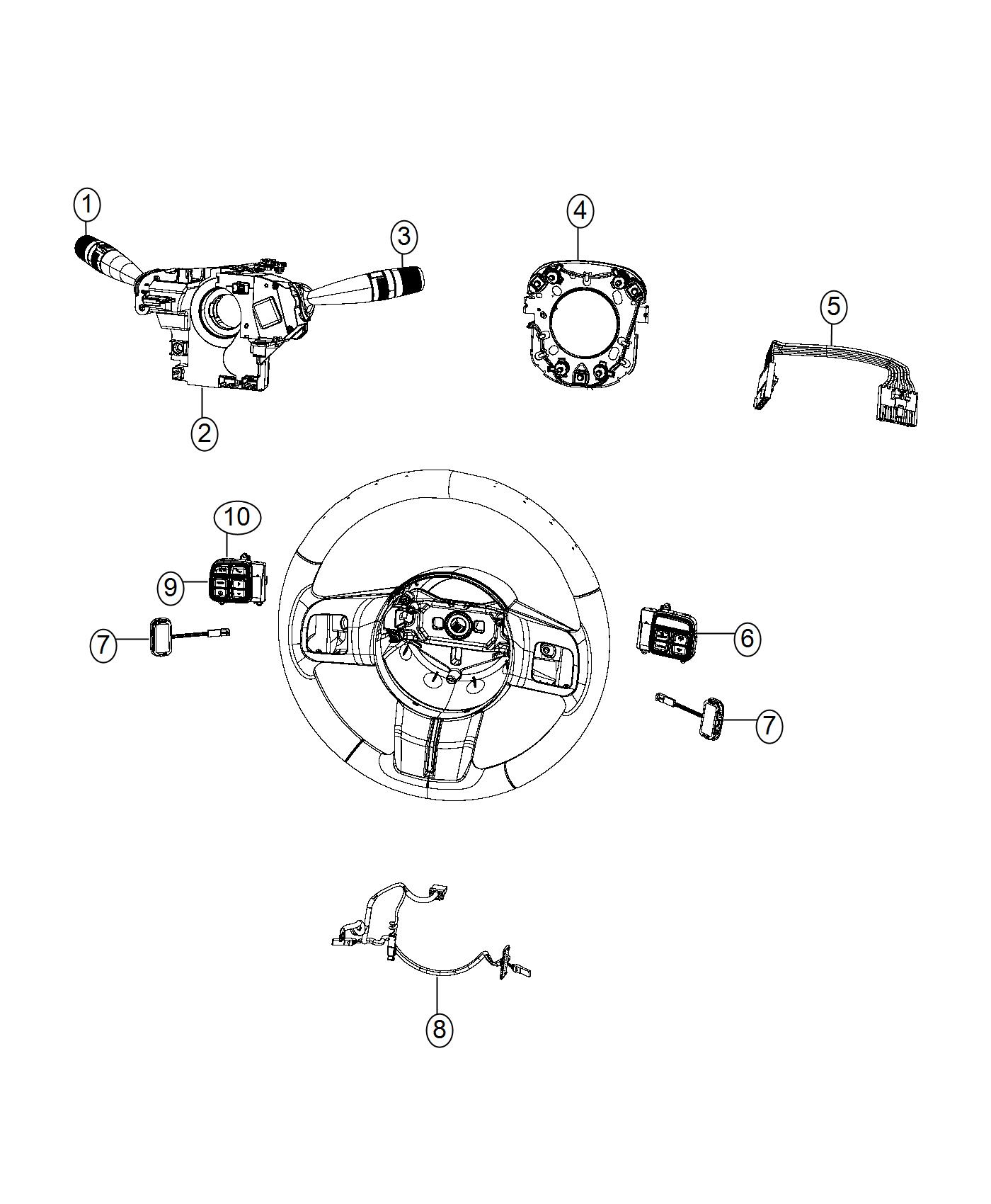 Jeep Compass Switch Horn Next Gen Multistage Front