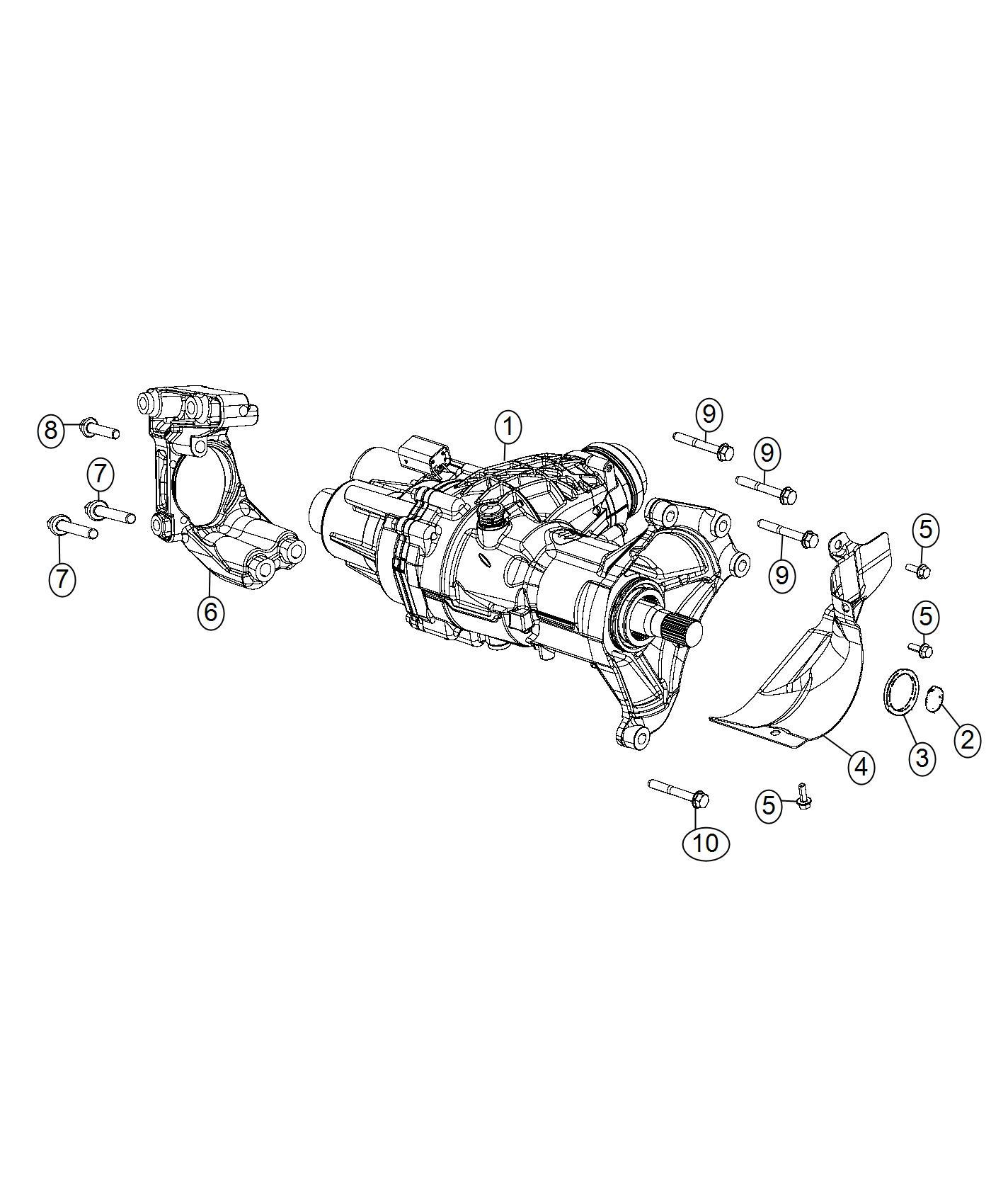 Jeep Renegade Hose Transfer Case Vent Power Unit