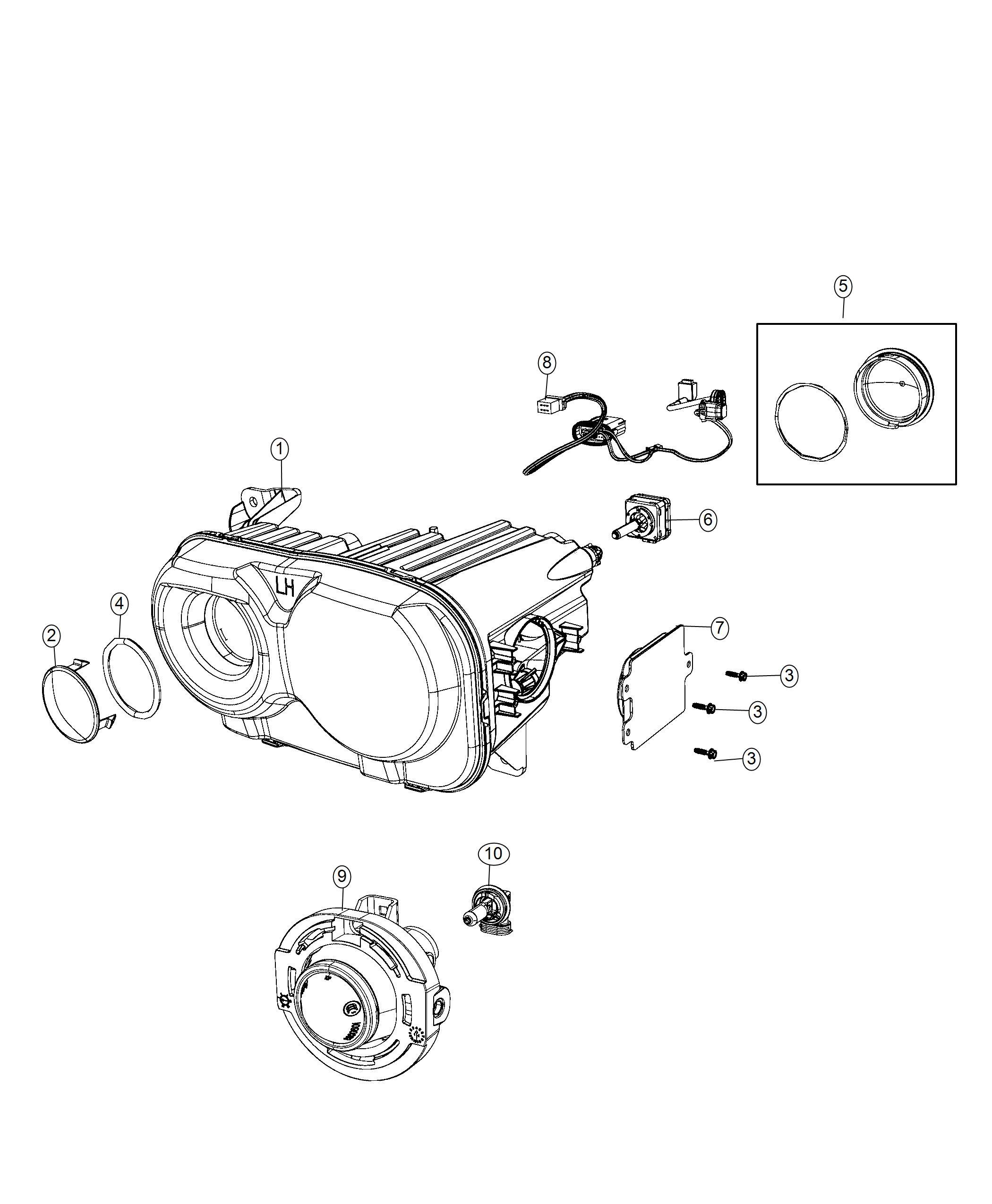 Dodge Challenger Wiring Jumper Hid Left Right
