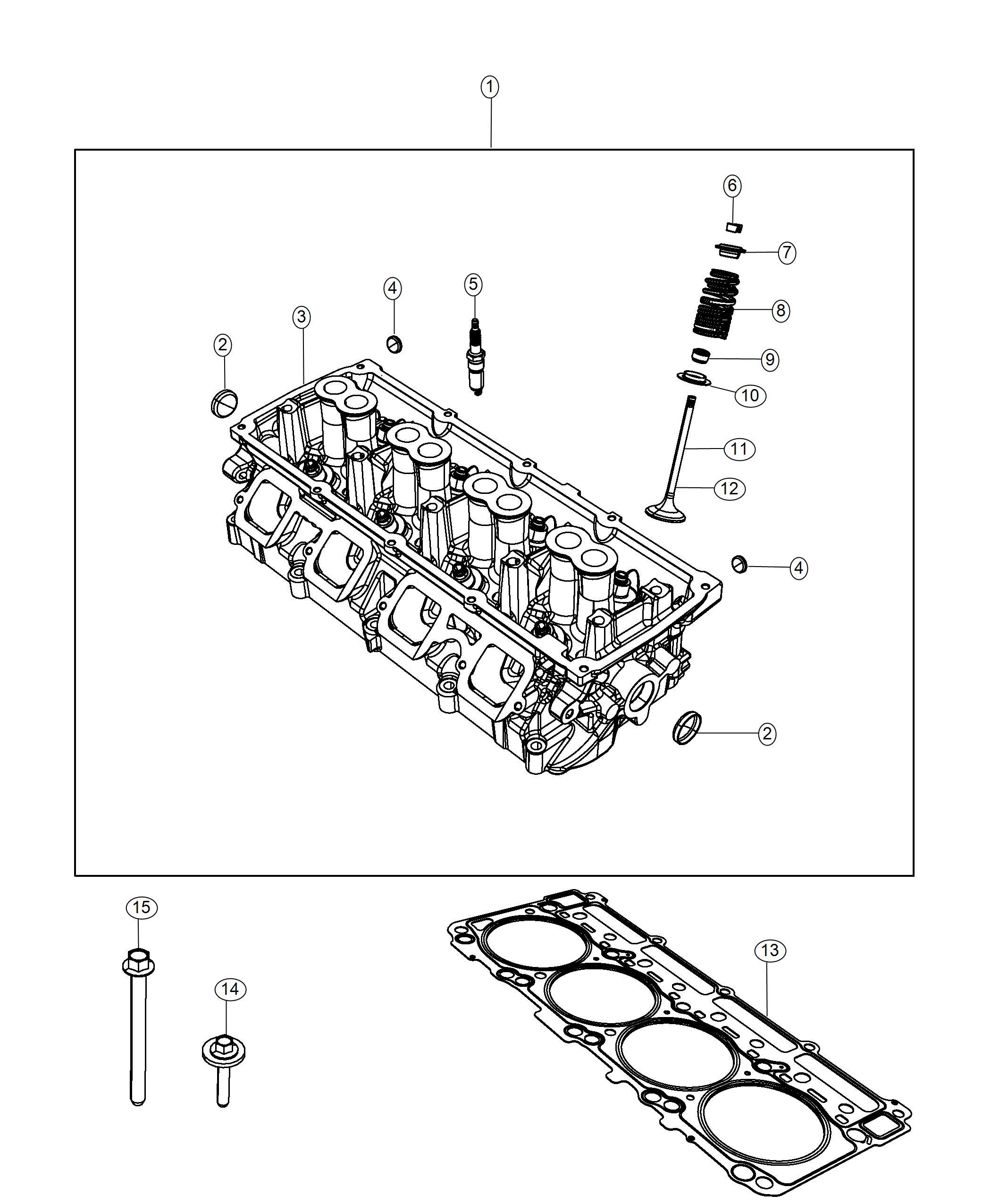 Dodge Challenger Gasket Cylinder Head Right Side