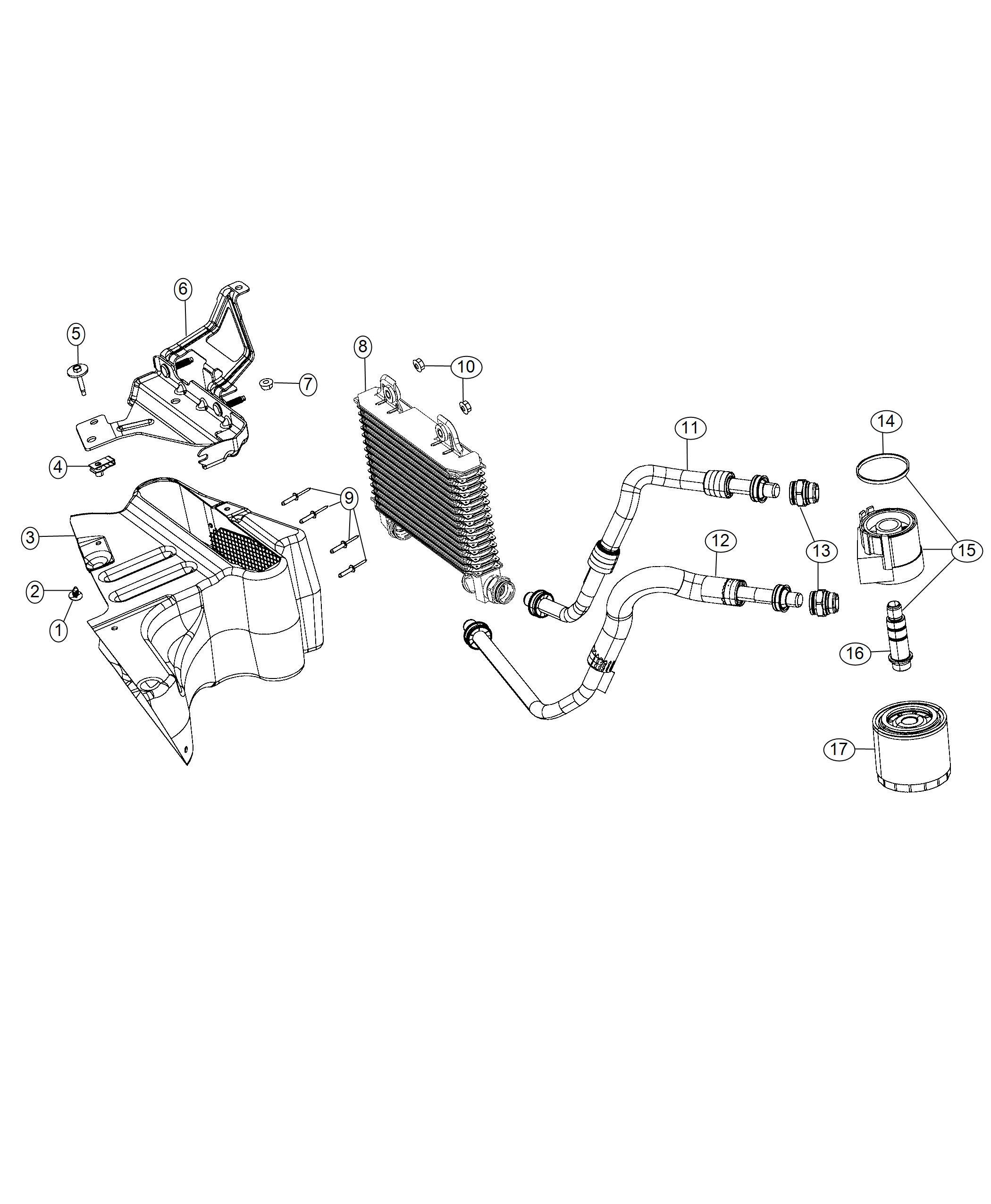 Dodge Challenger Adapter Engine Oil Filter Includes Seal