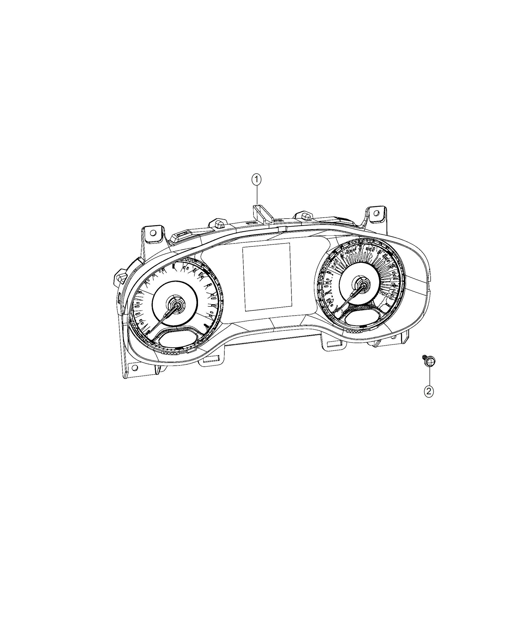 Jeep Compass Cluster Instrument Panel Trim No Description Available Color O0