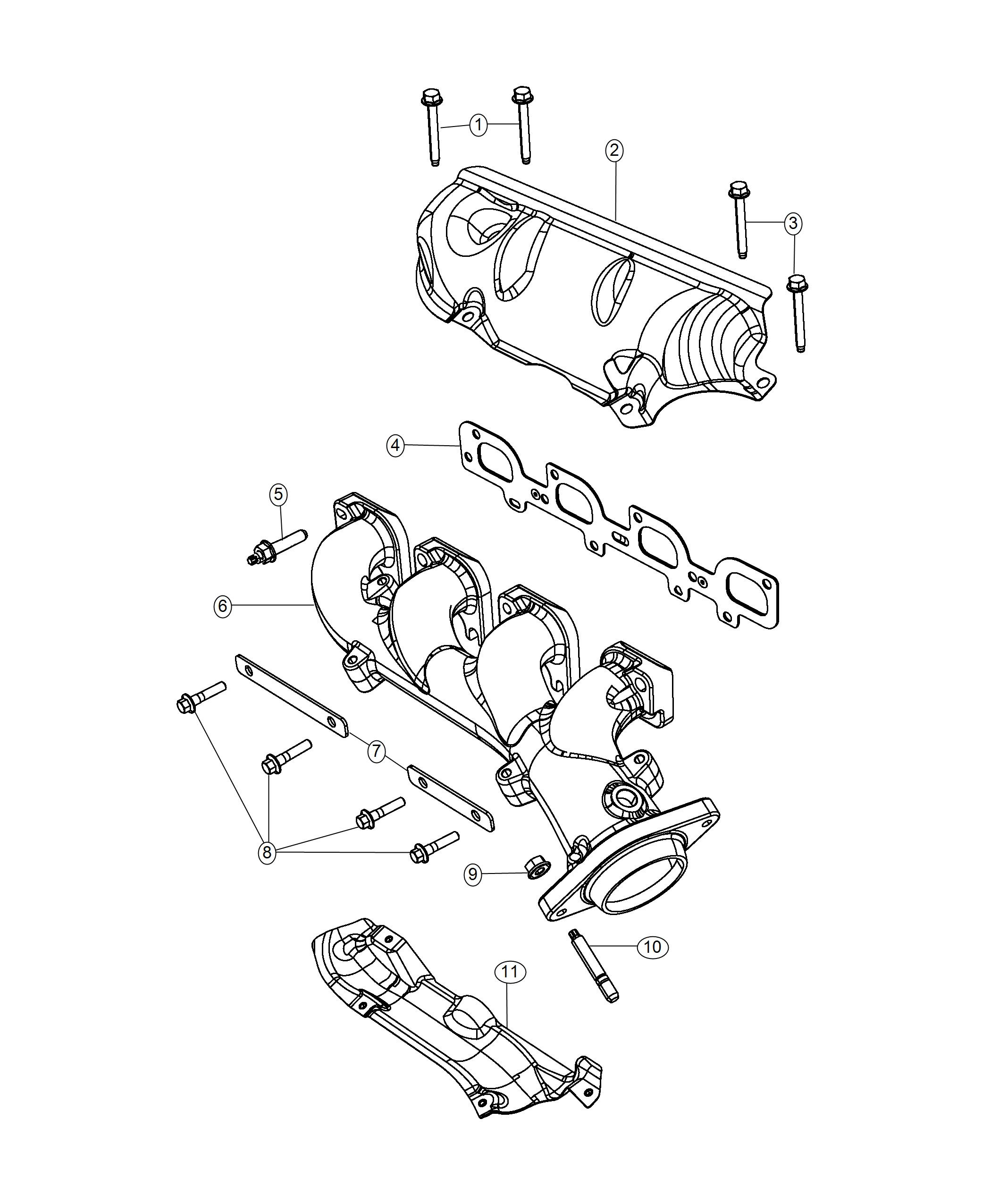 Jeep Grand Cherokee Manifold Exhaust Left Side