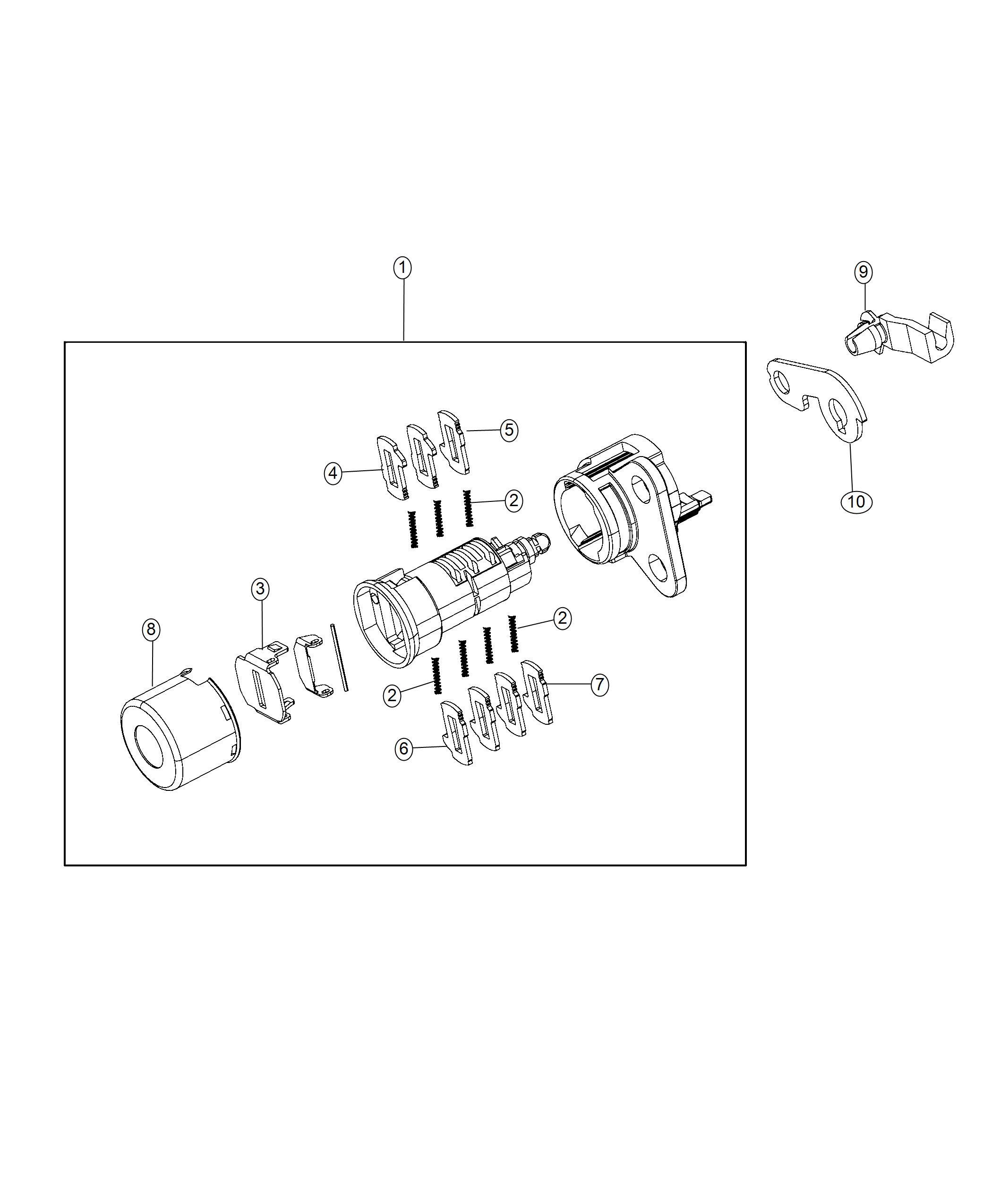 Jeep Grand Cherokee Cylinder Door Lock Left Right Lock Fuel Cap W O Discriminator Left